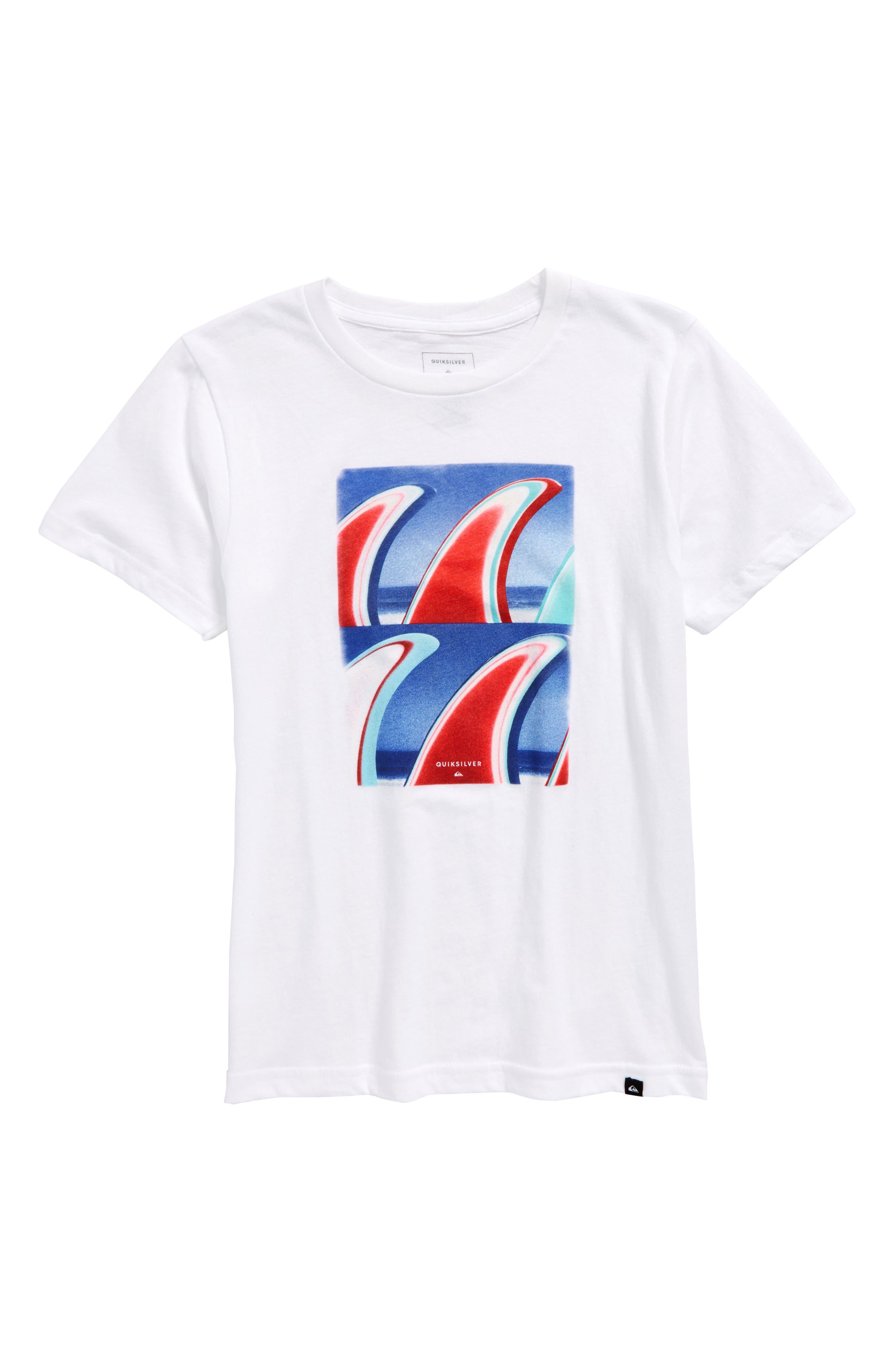 Fin Finatic Graphic T-Shirt,                             Main thumbnail 1, color,                             White