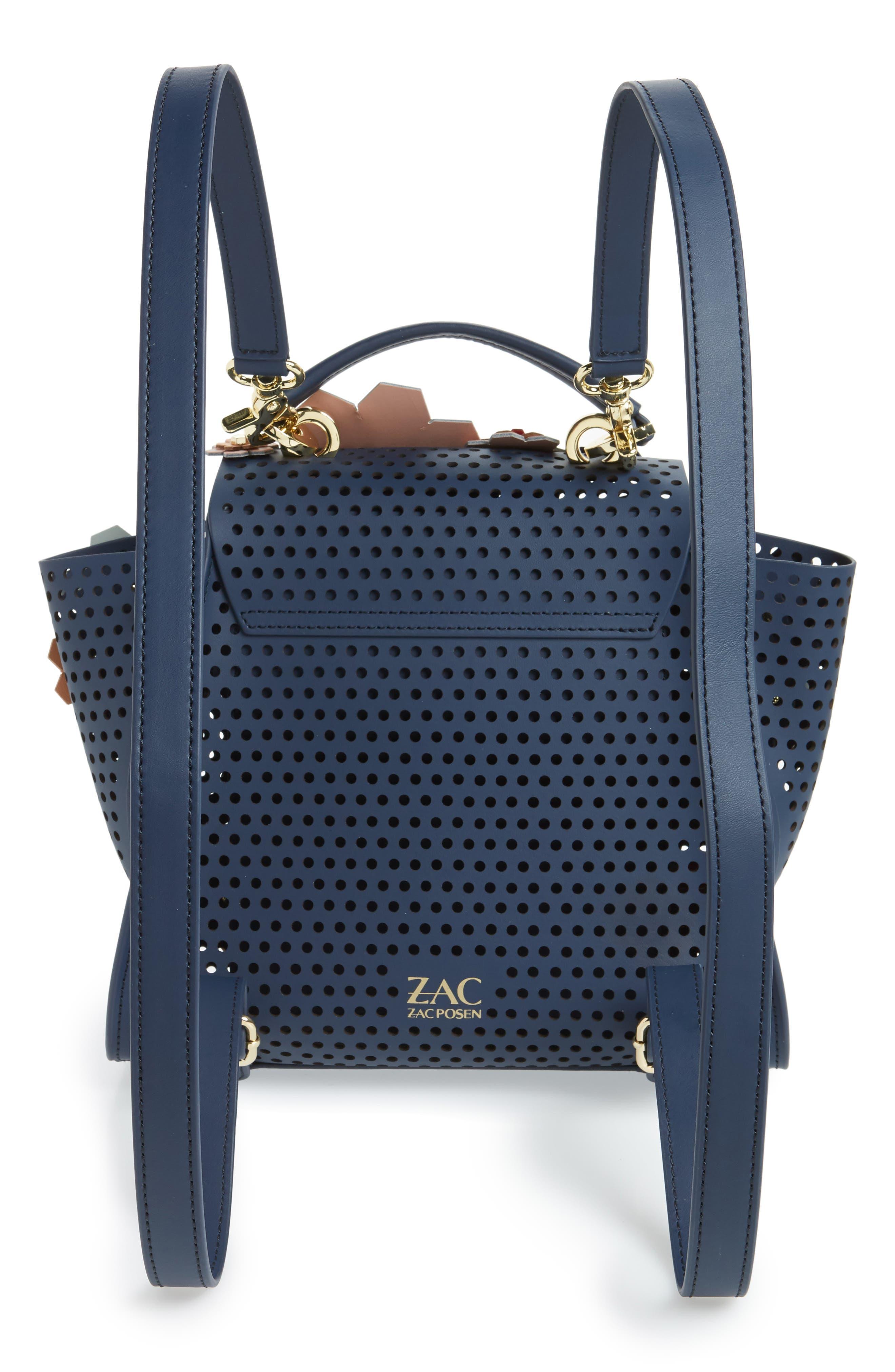 Eartha Kit Convertible Calfskin Leather Backpack,                             Alternate thumbnail 3, color,                             Blue/ Rainbow