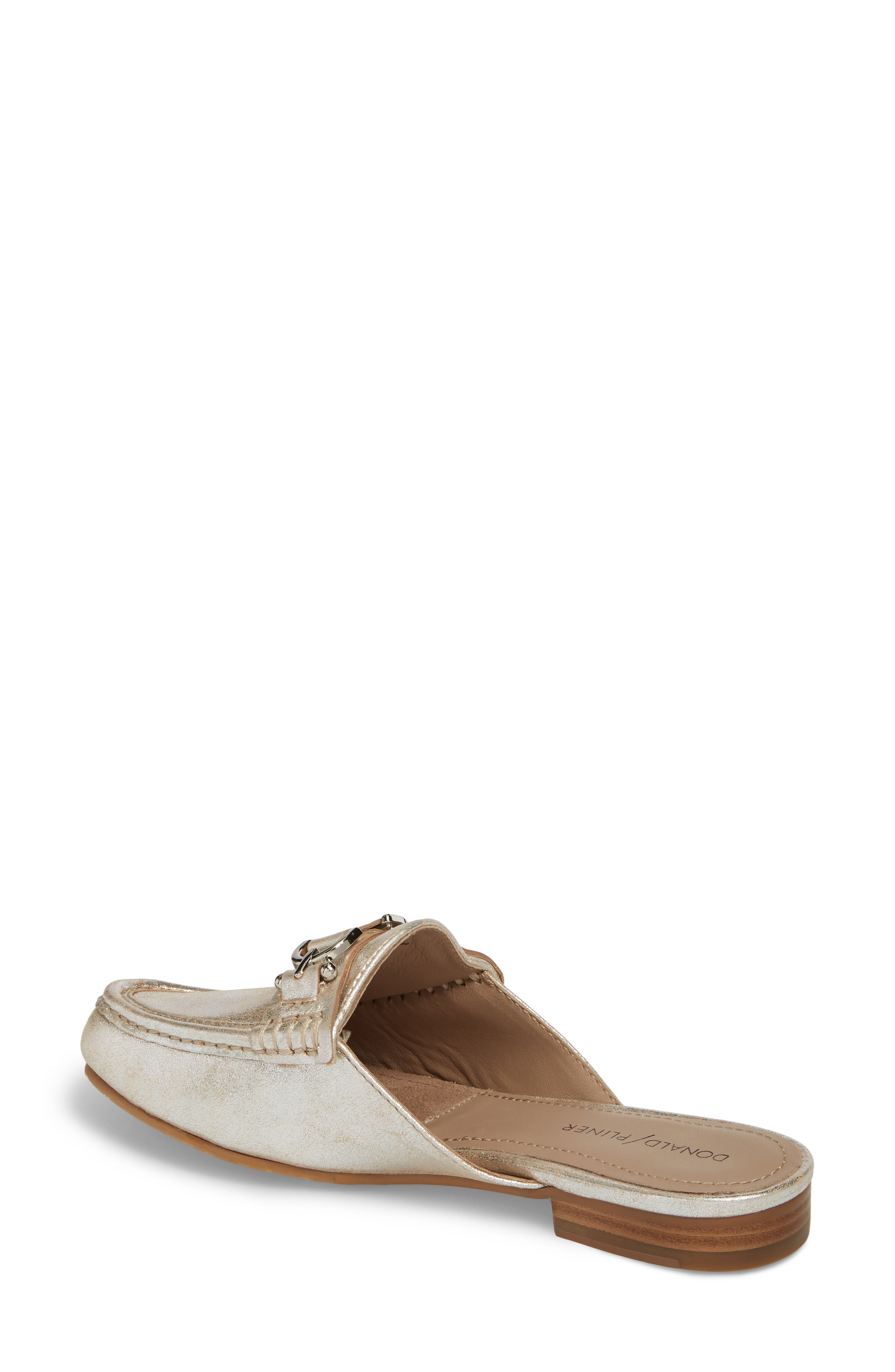 Sylvi Loafer Mule,                             Alternate thumbnail 2, color,                             Silver Leather