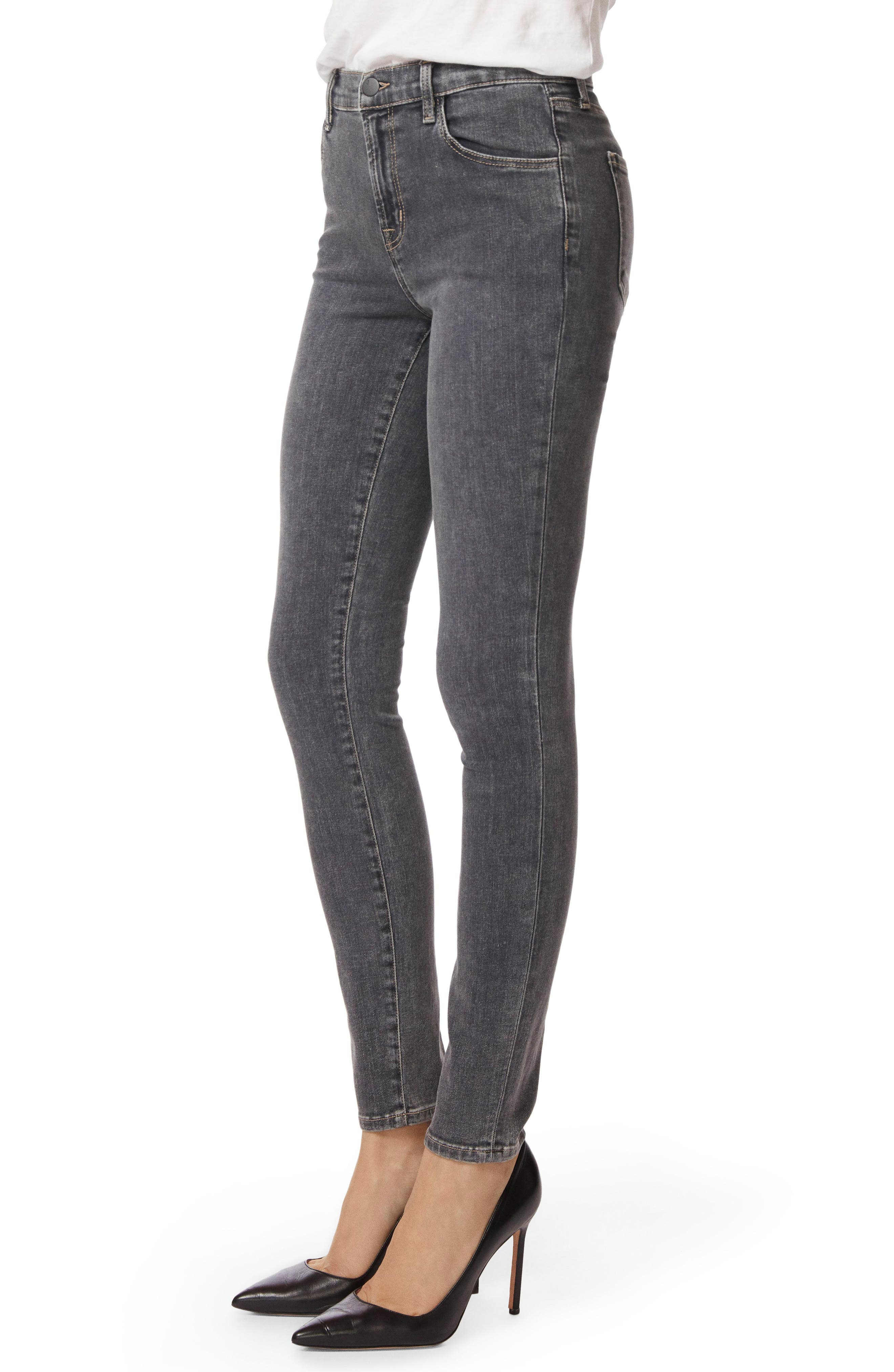 Maria High Waist Skinny Jeans,                             Alternate thumbnail 3, color,                             Obscura