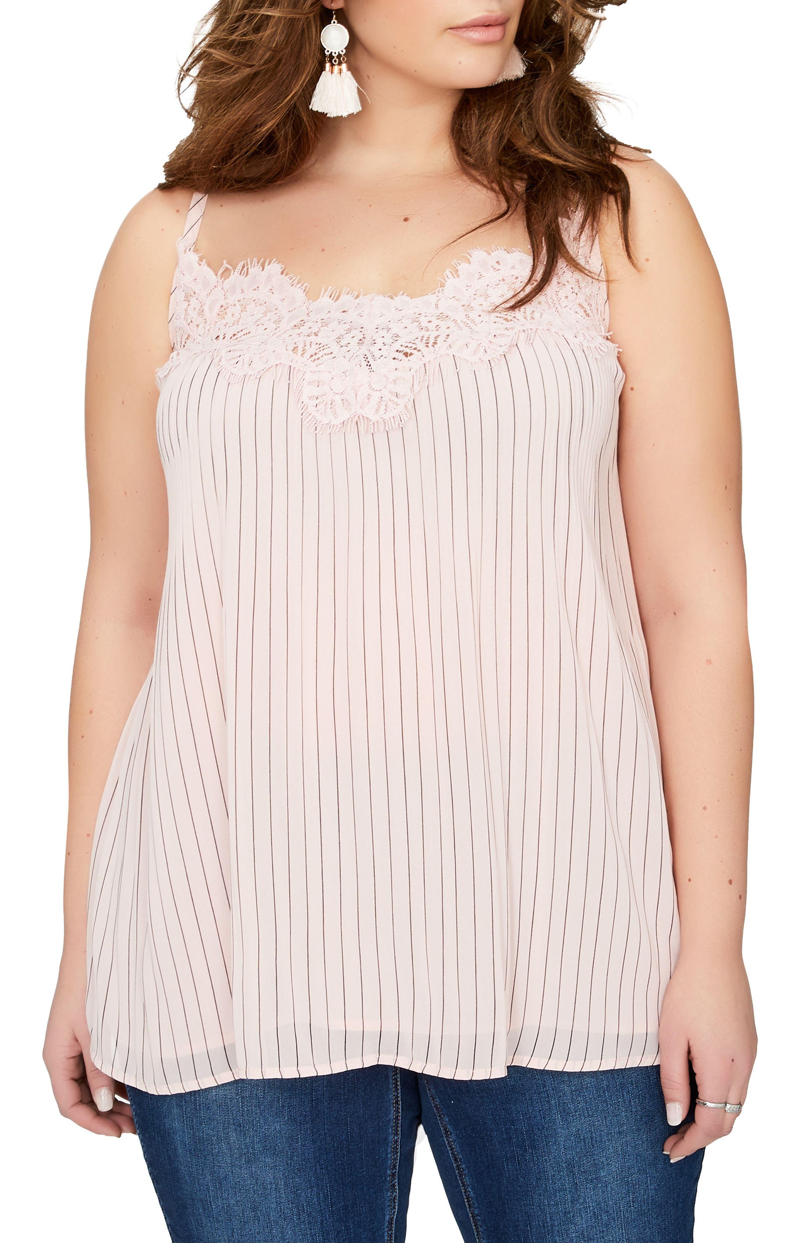 MICHEL STUDIO Stripe Camisole (Plus Size)