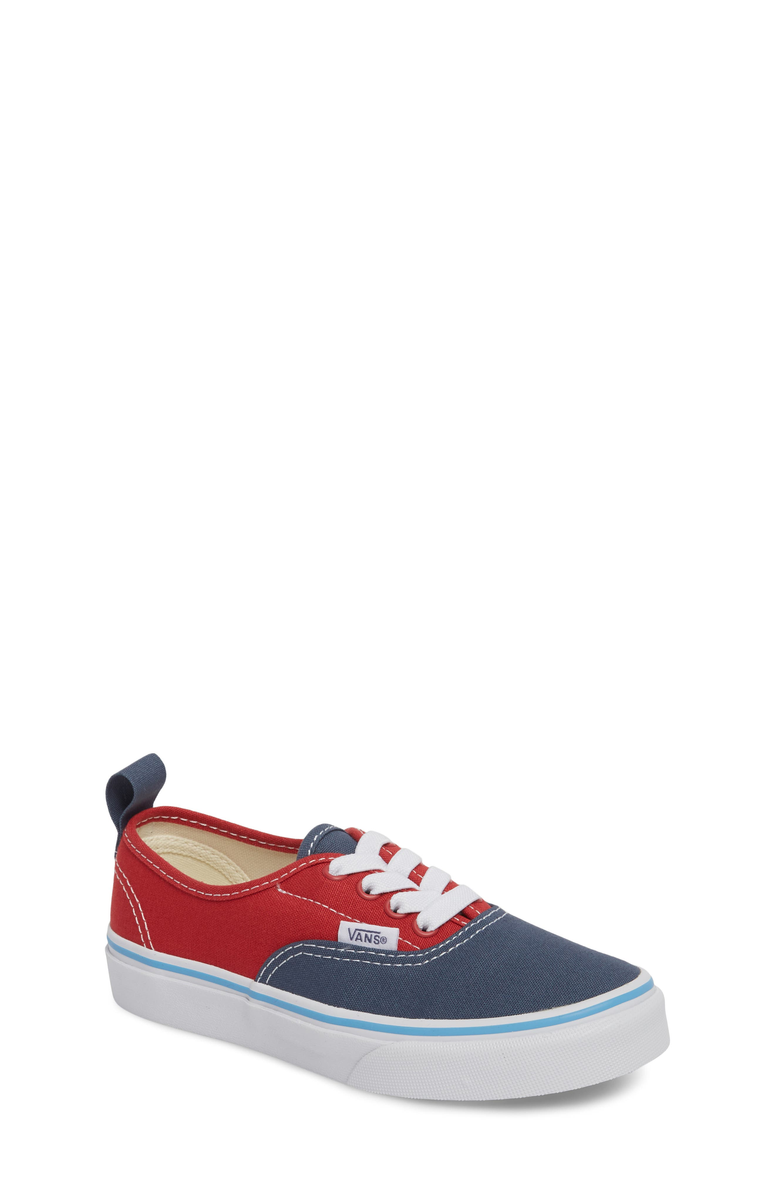 Authentic Low Top Sneaker,                             Main thumbnail 1, color,                             Indigo/ Blue/ Red Tri Pop