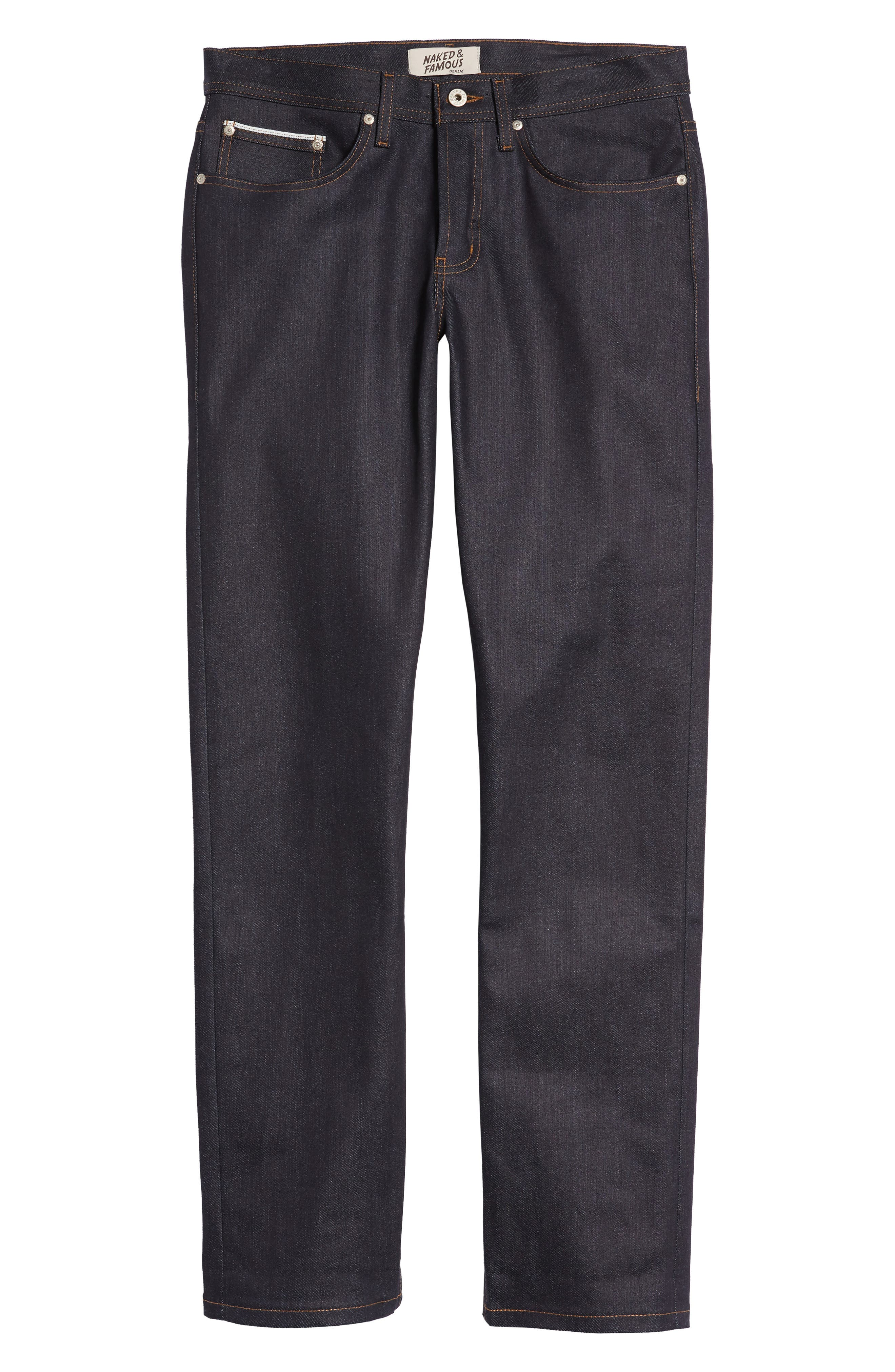 Naked & Famous Weird Guy Slim Fit Jeans,                             Alternate thumbnail 6, color,                             Indigo