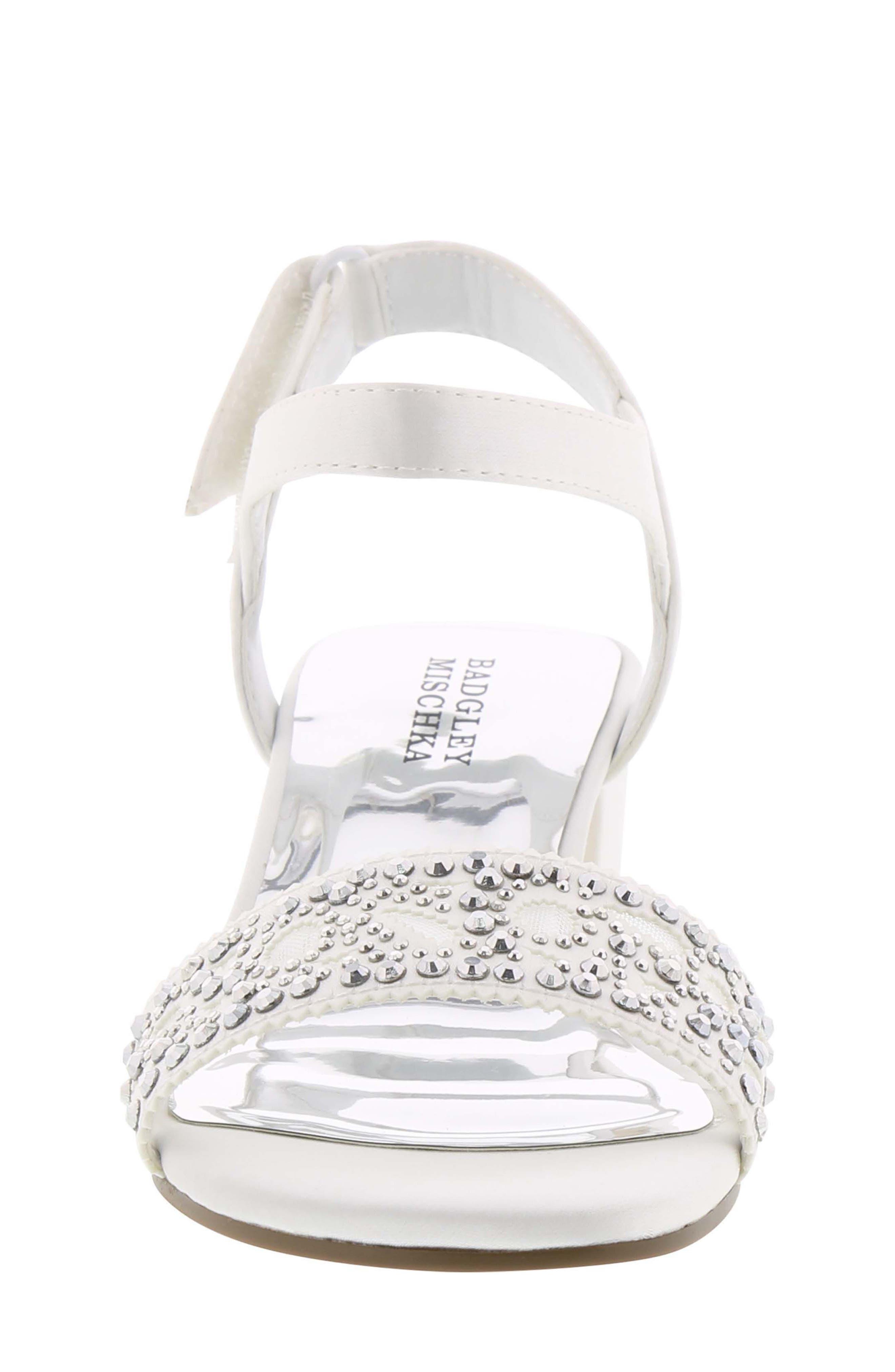 Ascot Gems Sandal,                             Alternate thumbnail 4, color,                             White