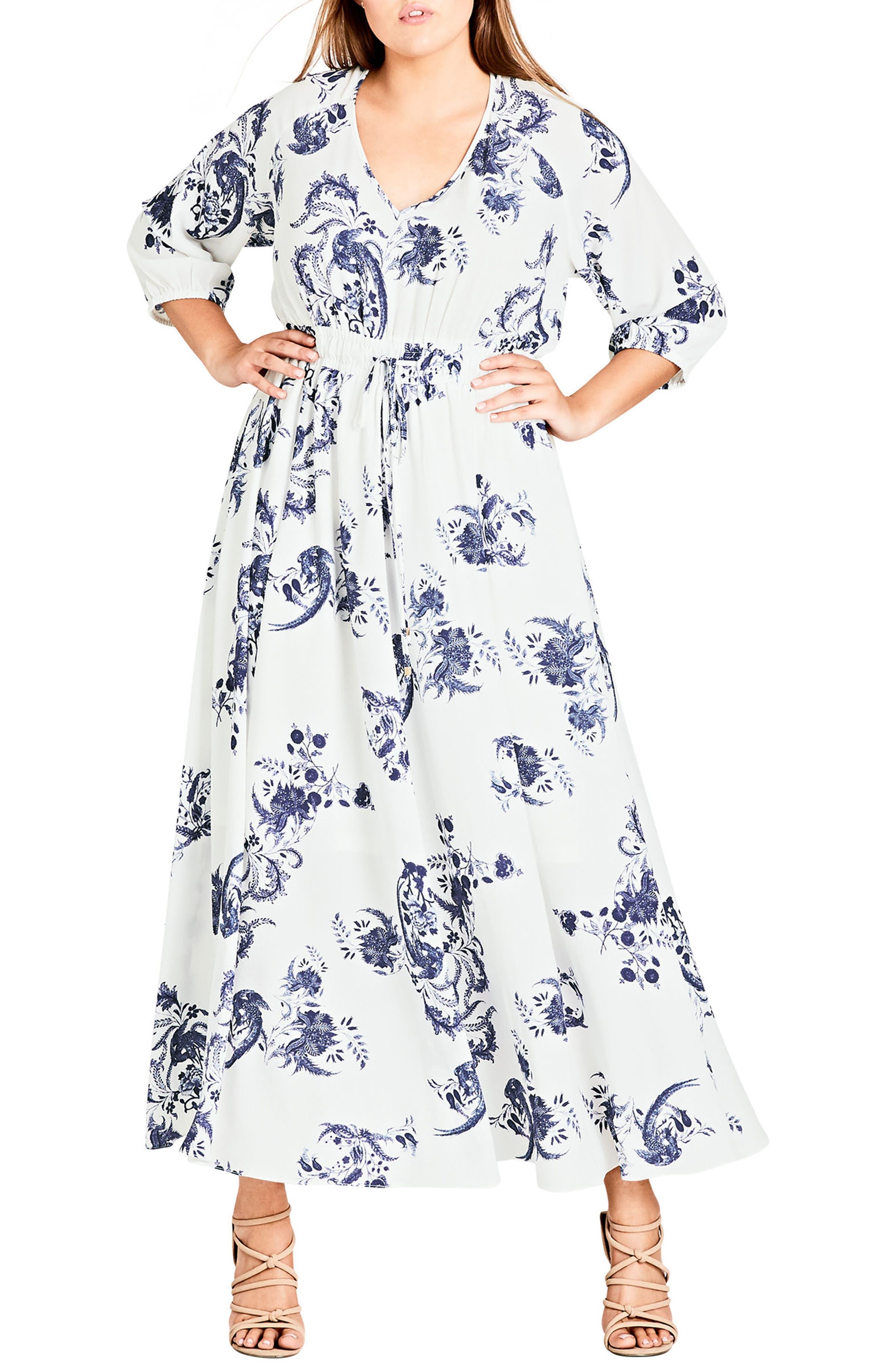 City Chic Shinjuku Maxi Dress (Plus Size)