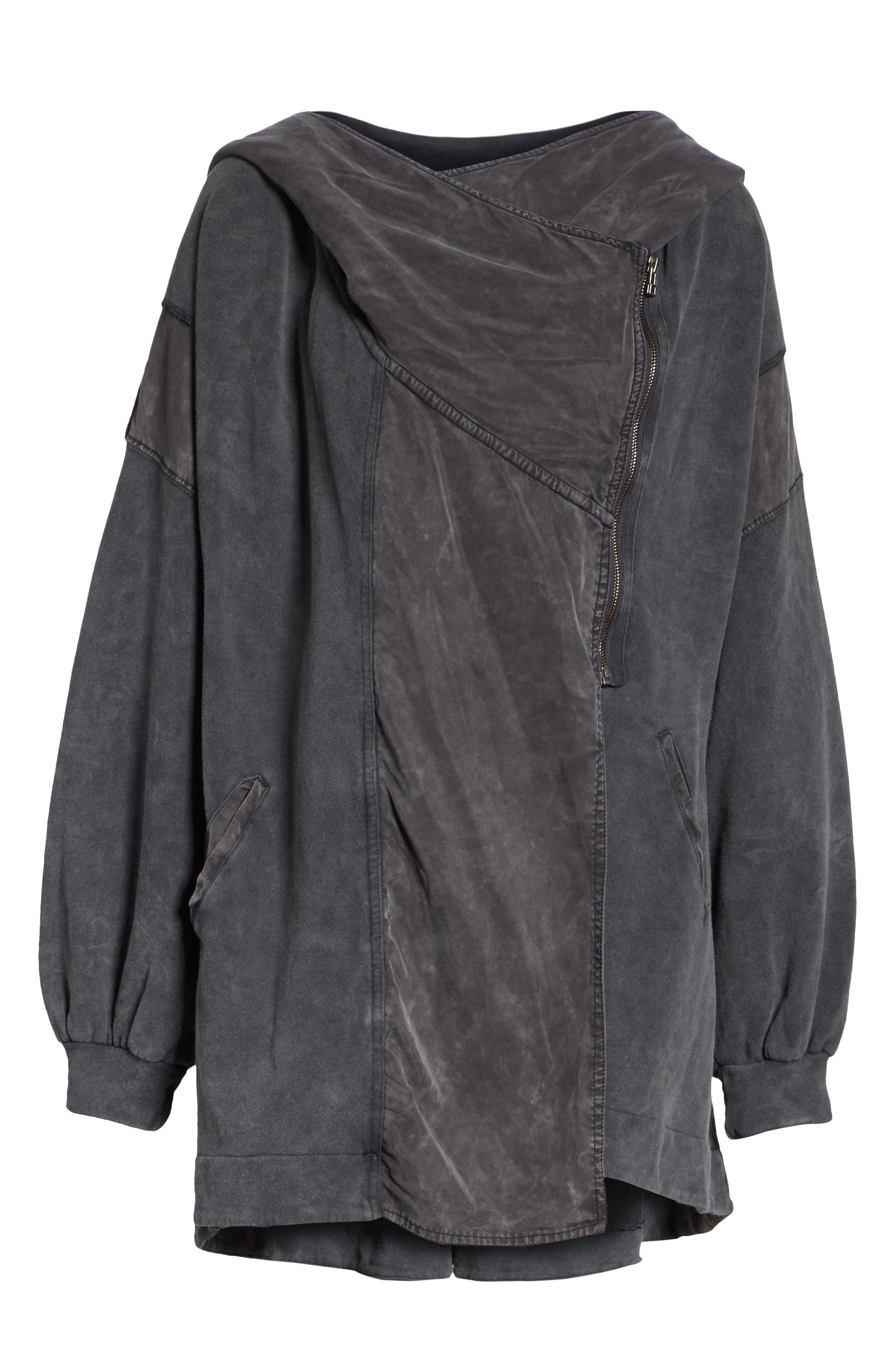 C'mon Hooded Cardigan,                             Alternate thumbnail 6, color,                             Black