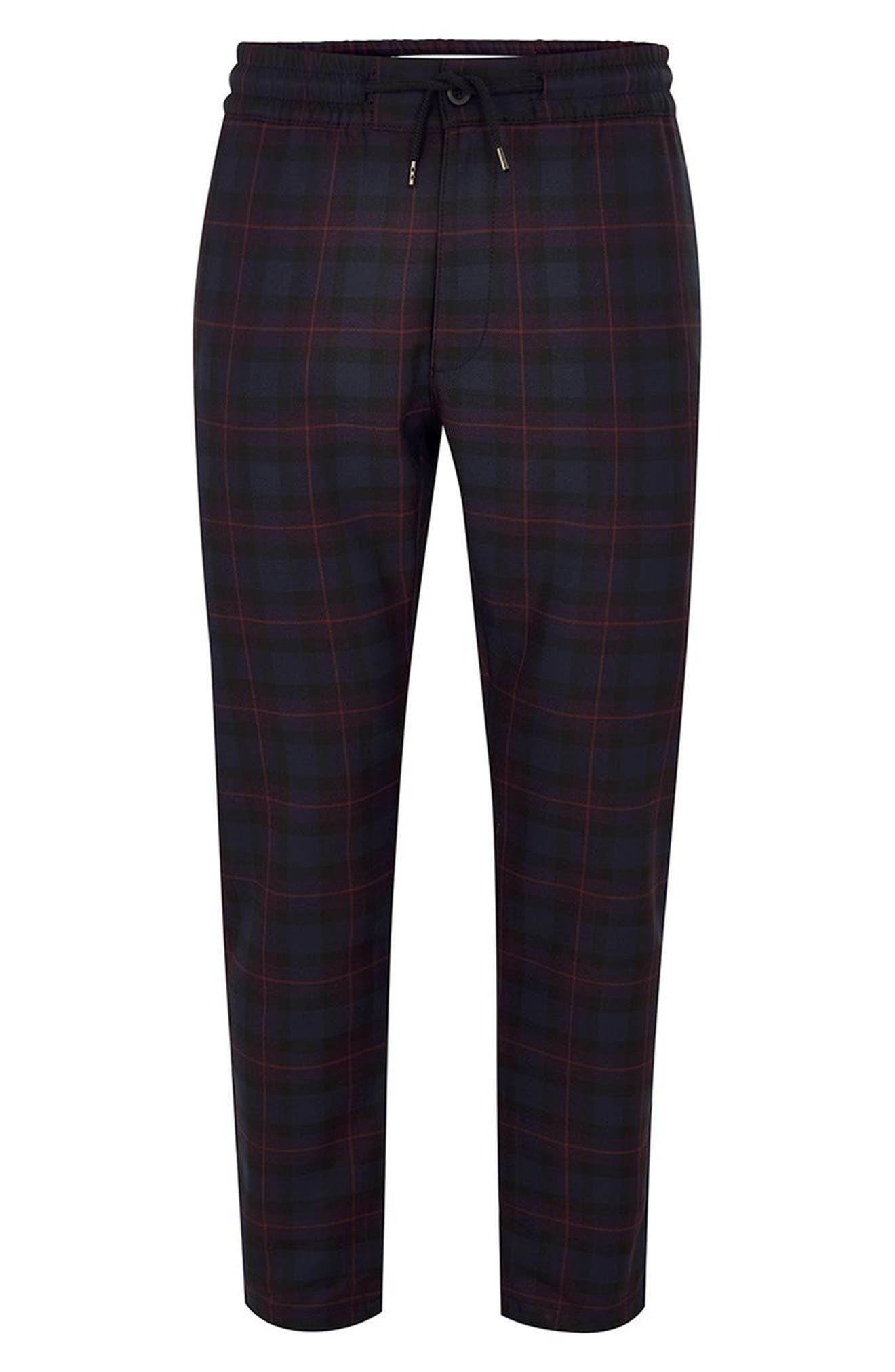 Classic Fit Check Woven Jogger Pants,                             Main thumbnail 1, color,                             Purple