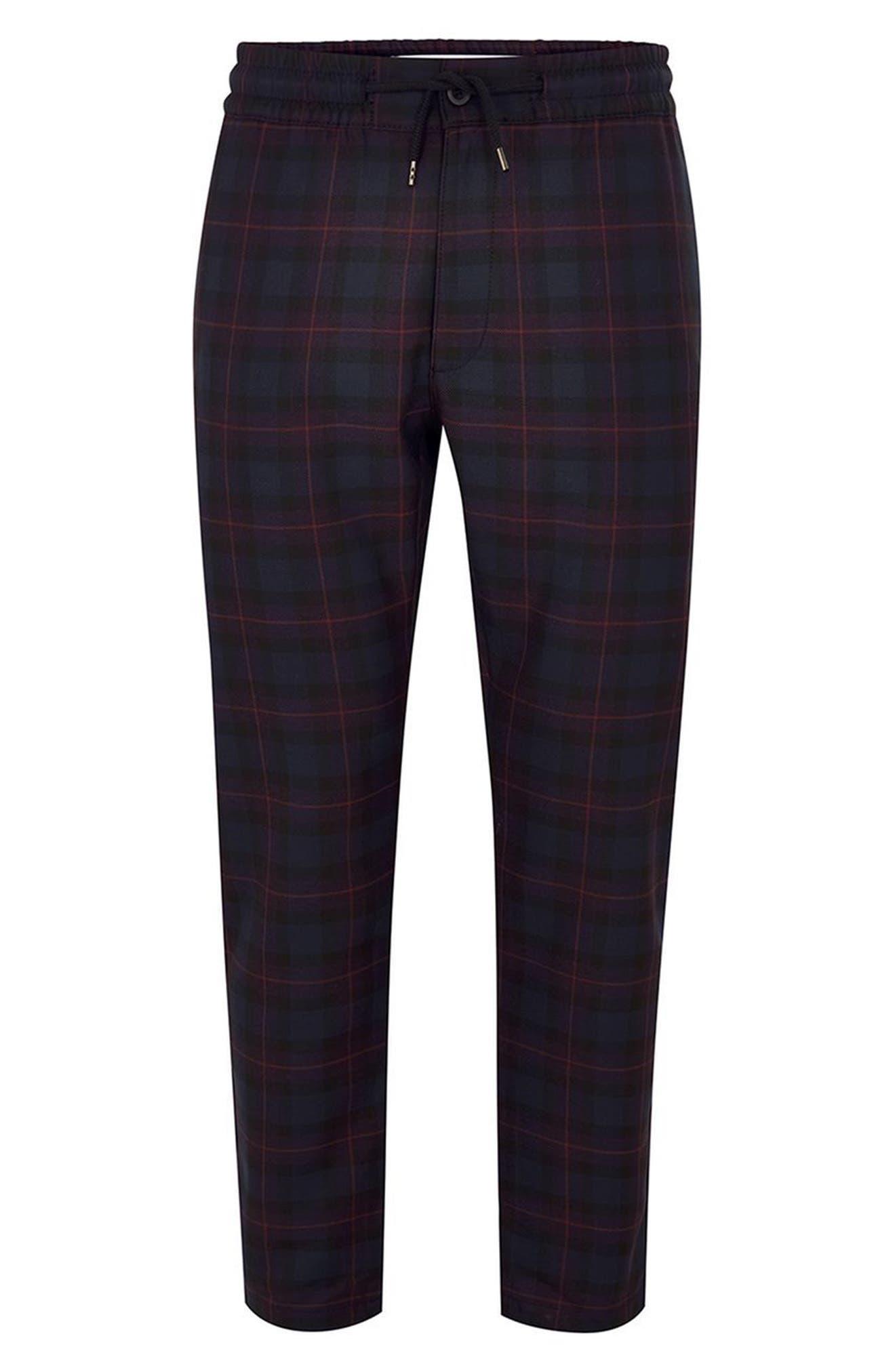 Classic Fit Check Woven Jogger Pants,                         Main,                         color, Purple