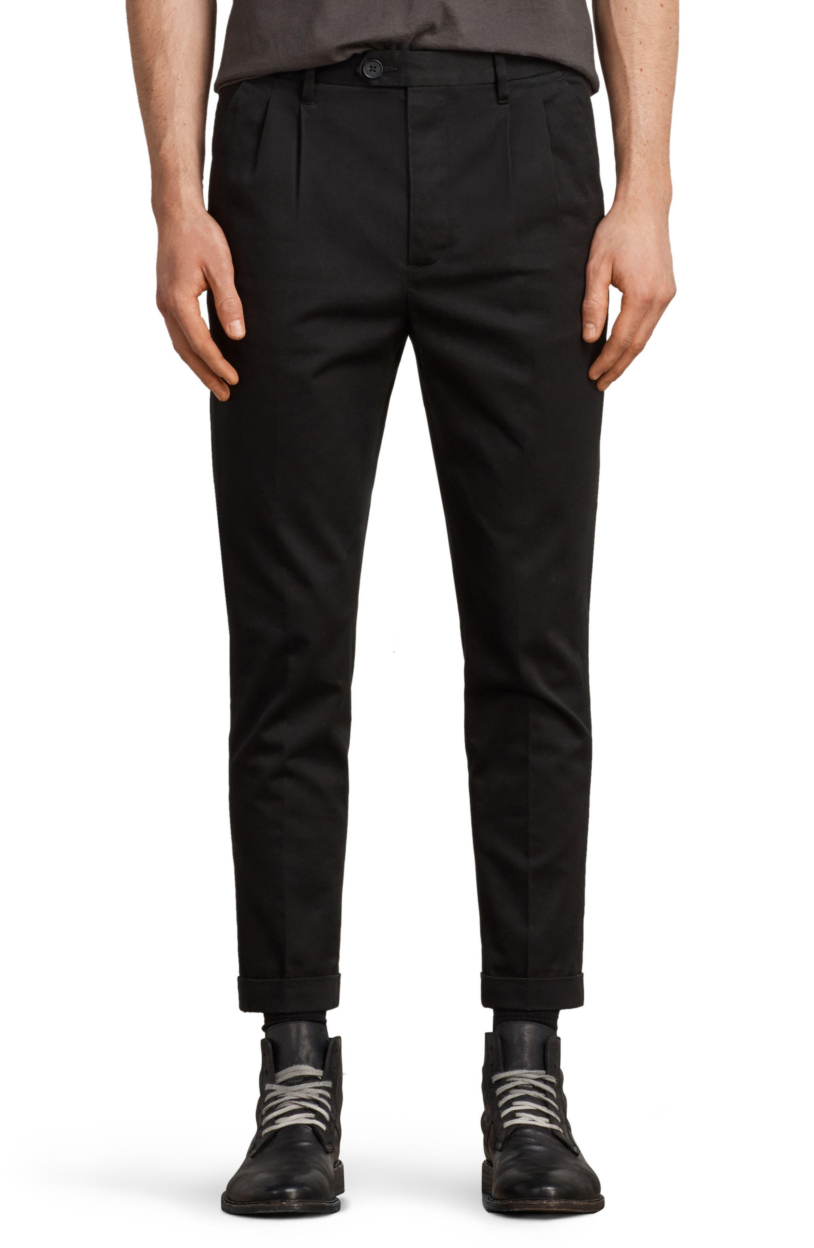 Salco Slim Fit Chino Pants,                             Main thumbnail 1, color,                             Black