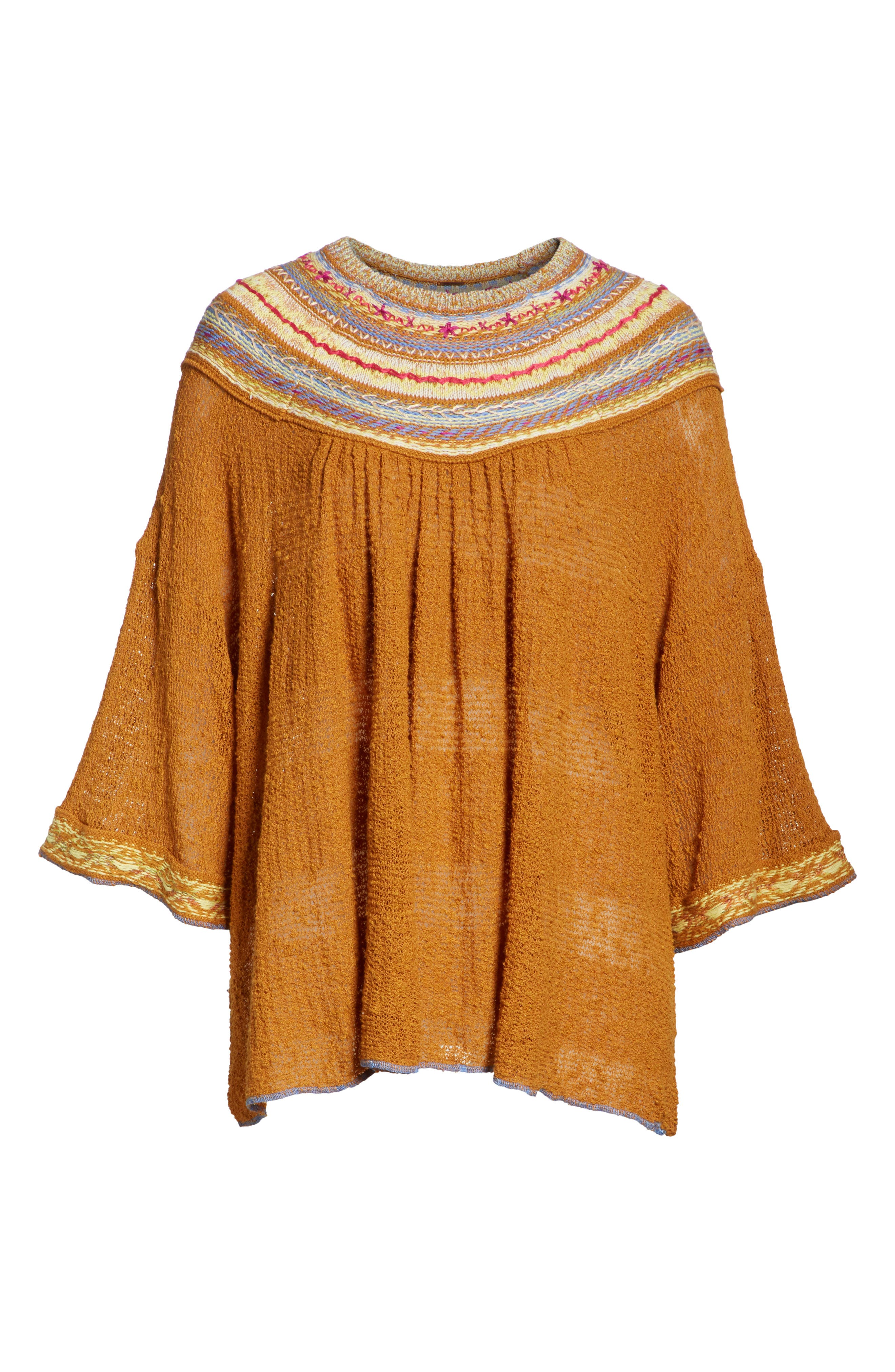 Vacation Sweater,                             Alternate thumbnail 6, color,                             Gold