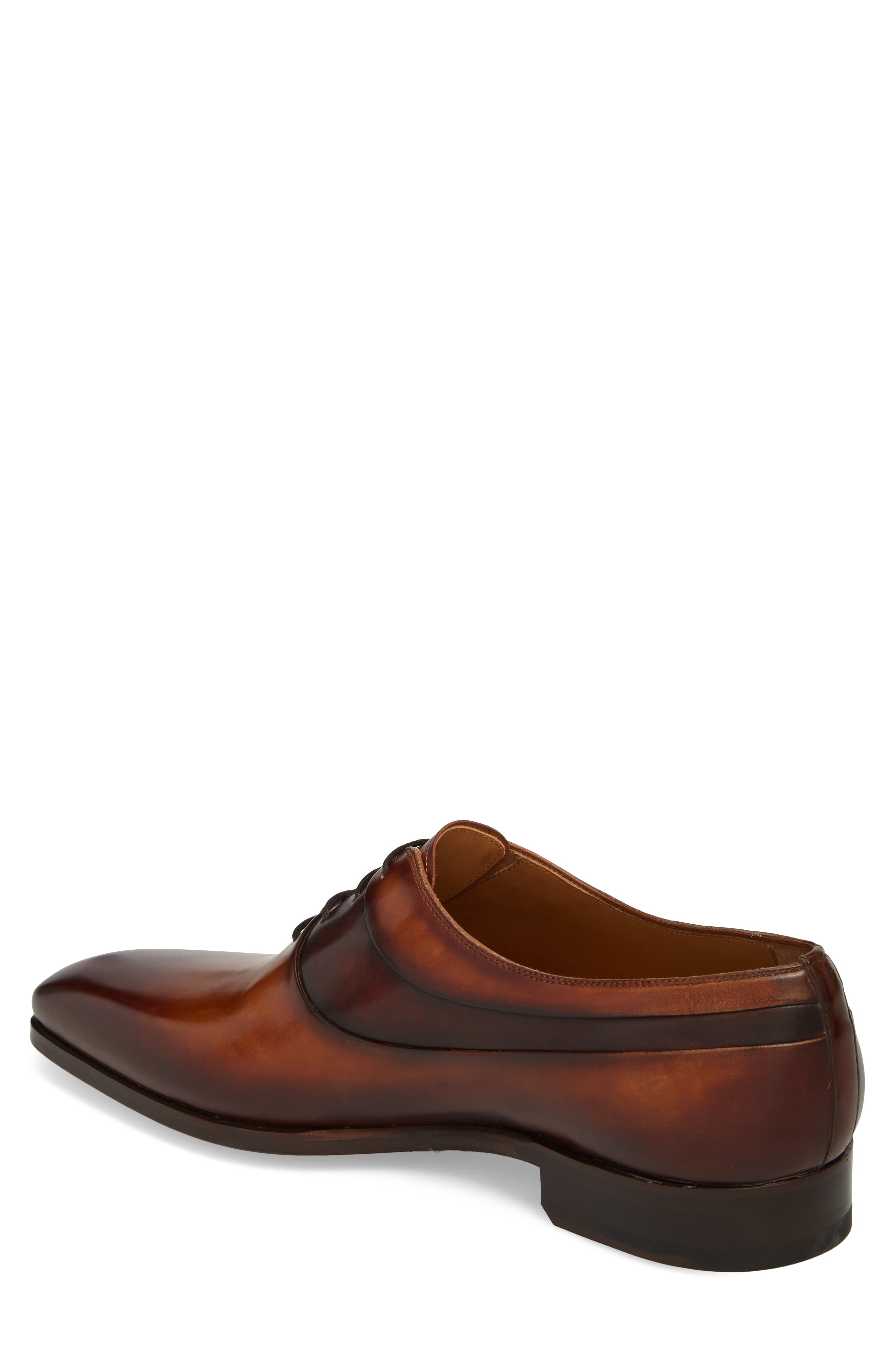 Miles Plain Toe Oxford,                             Alternate thumbnail 2, color,                             Brown Leather