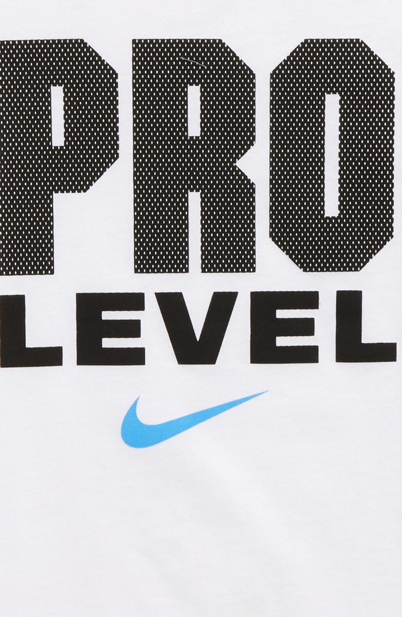 Pro Level T-Shirt,                             Alternate thumbnail 2, color,                             White