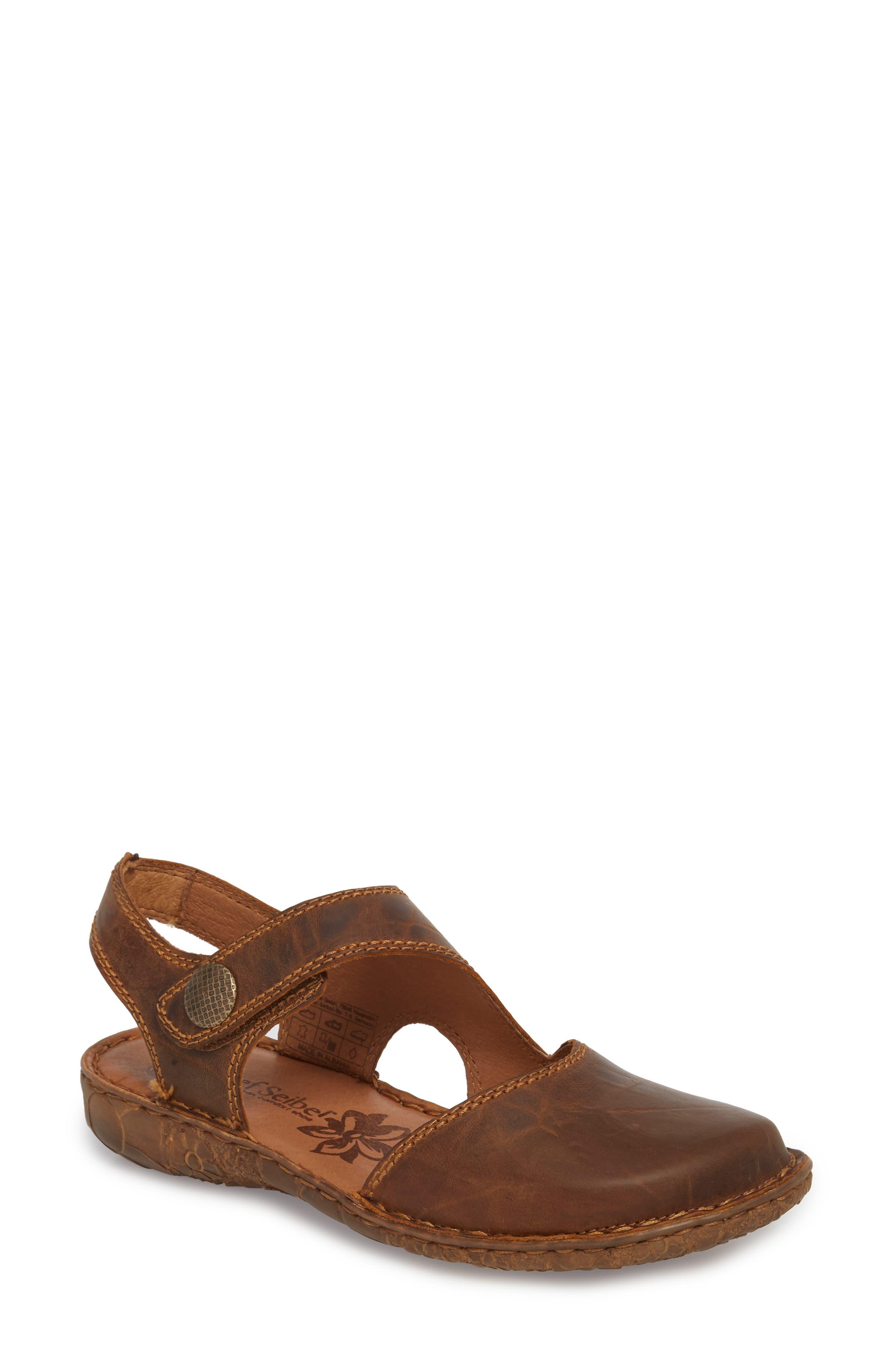 Rosalie 27 Sandal,                             Main thumbnail 1, color,                             Brandy Leather