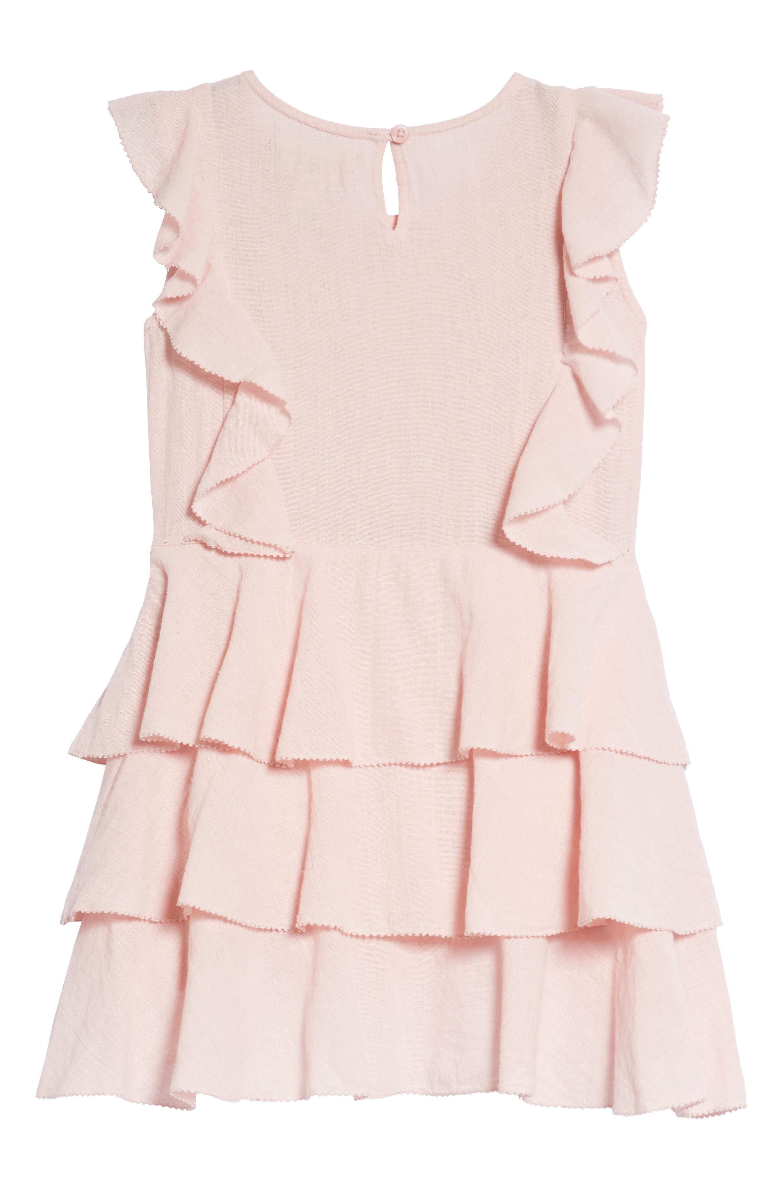 Madeline Tiered Dress,                             Alternate thumbnail 2, color,                             Blush