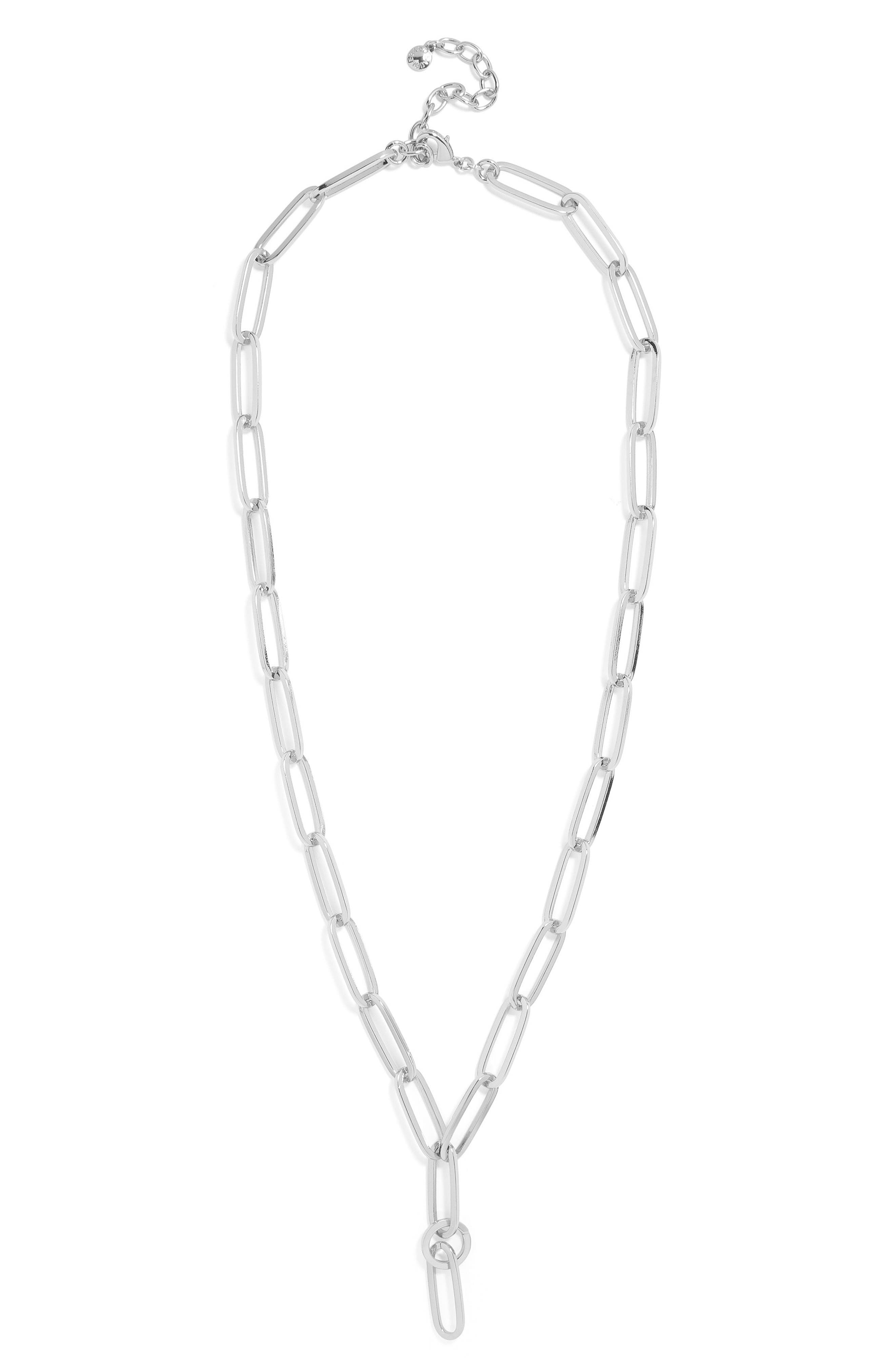 Manita Linked Pendant Necklace,                             Alternate thumbnail 2, color,                             Silver