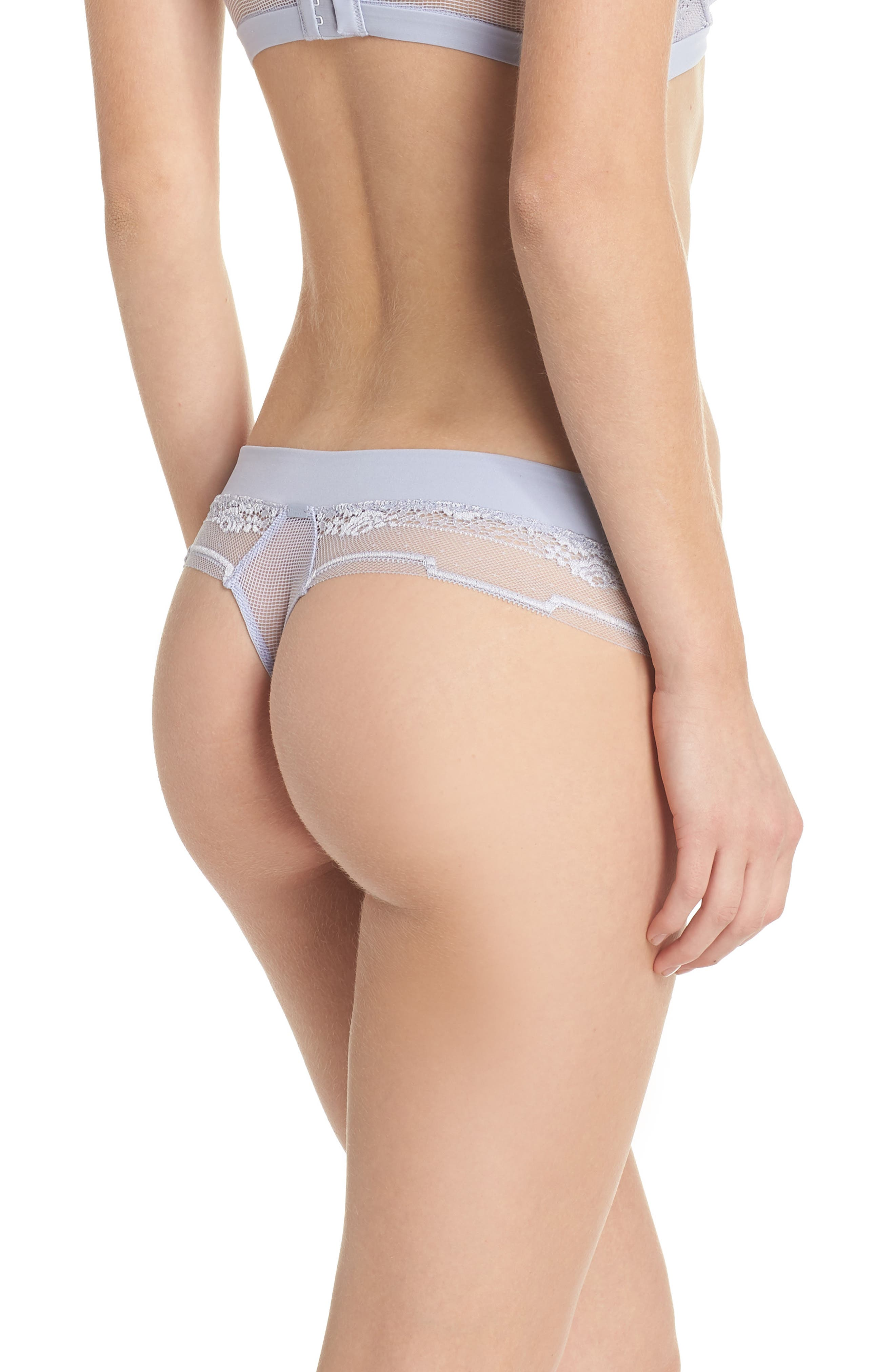 Alternate Image 2  - Calvin Klein Lace Thong