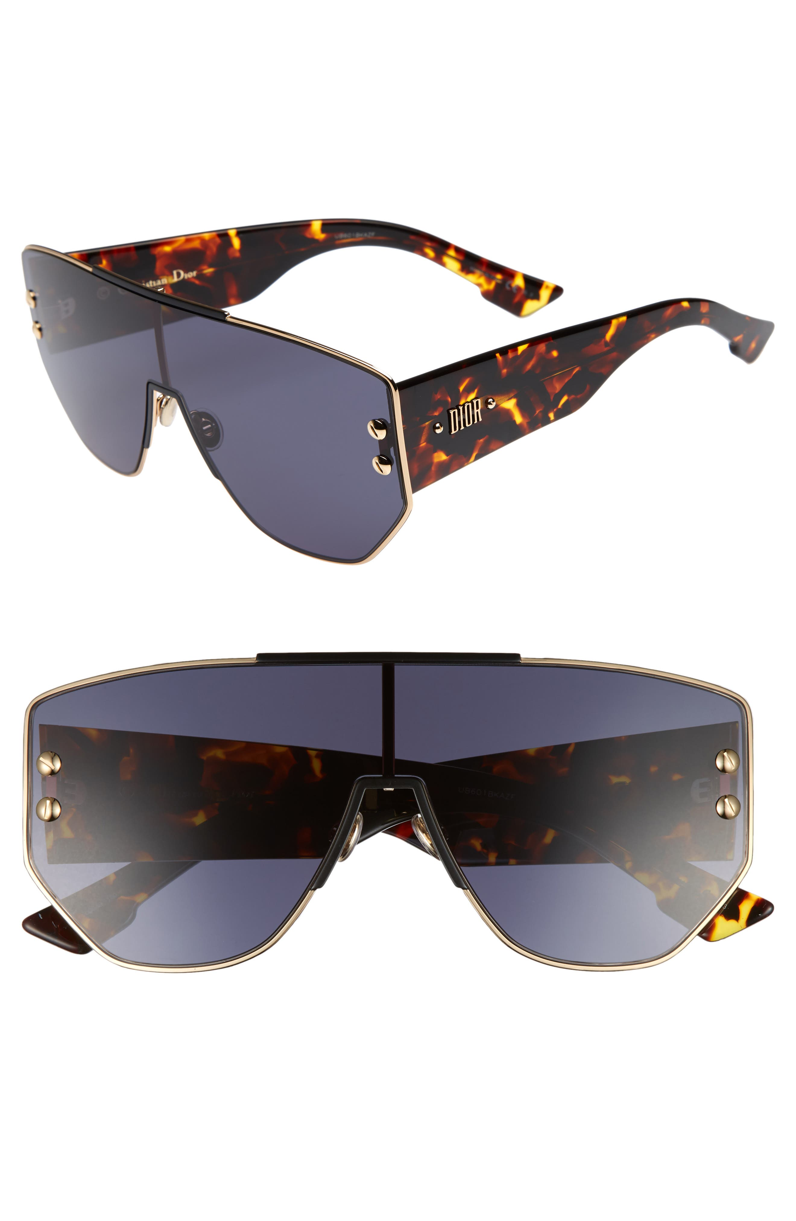 Main Image - Dior 72mm Rimless Shield Sunglasses