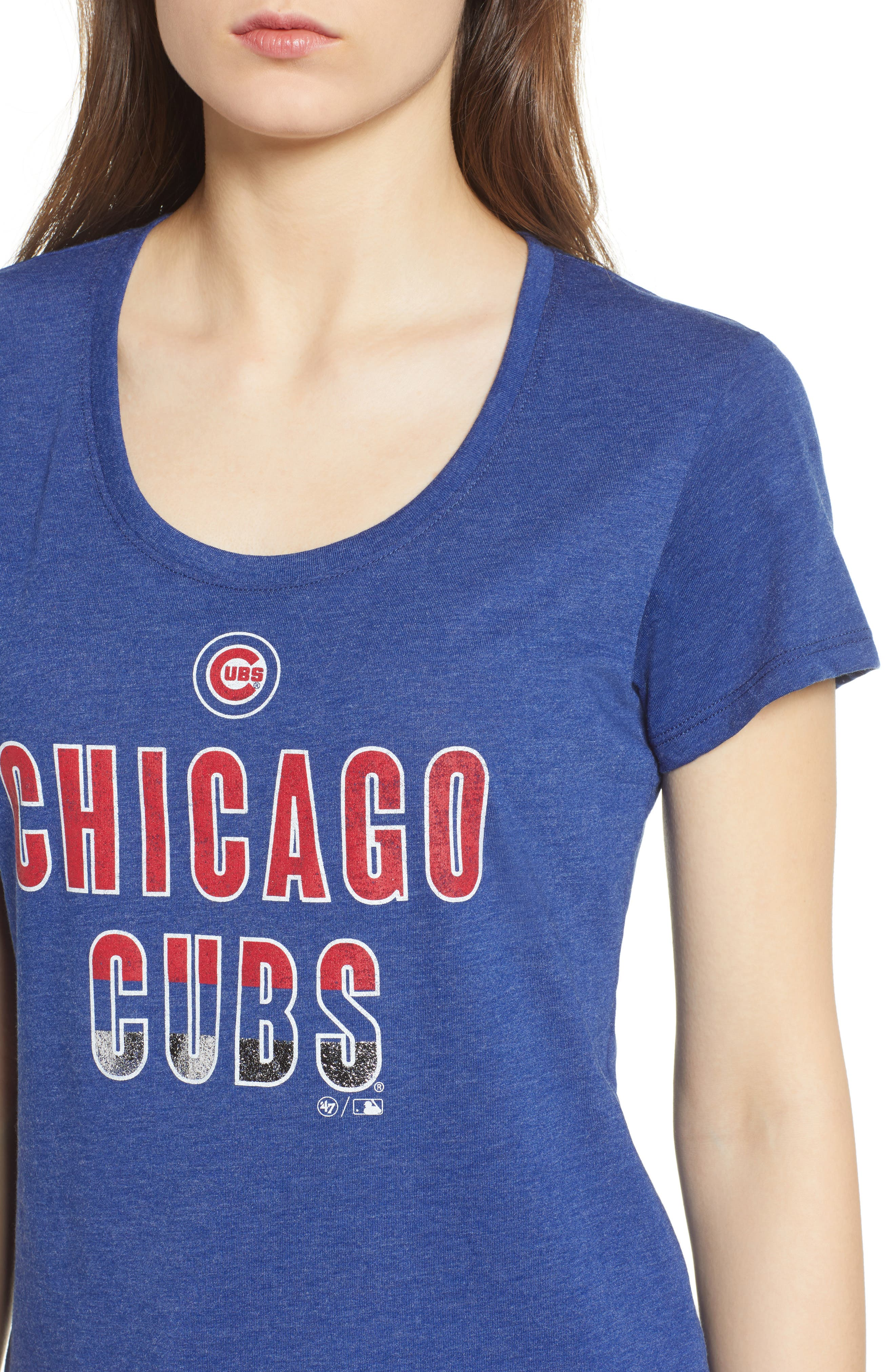 Chicago Cubs Too Good Tee,                             Alternate thumbnail 4, color,                             Royal Blue