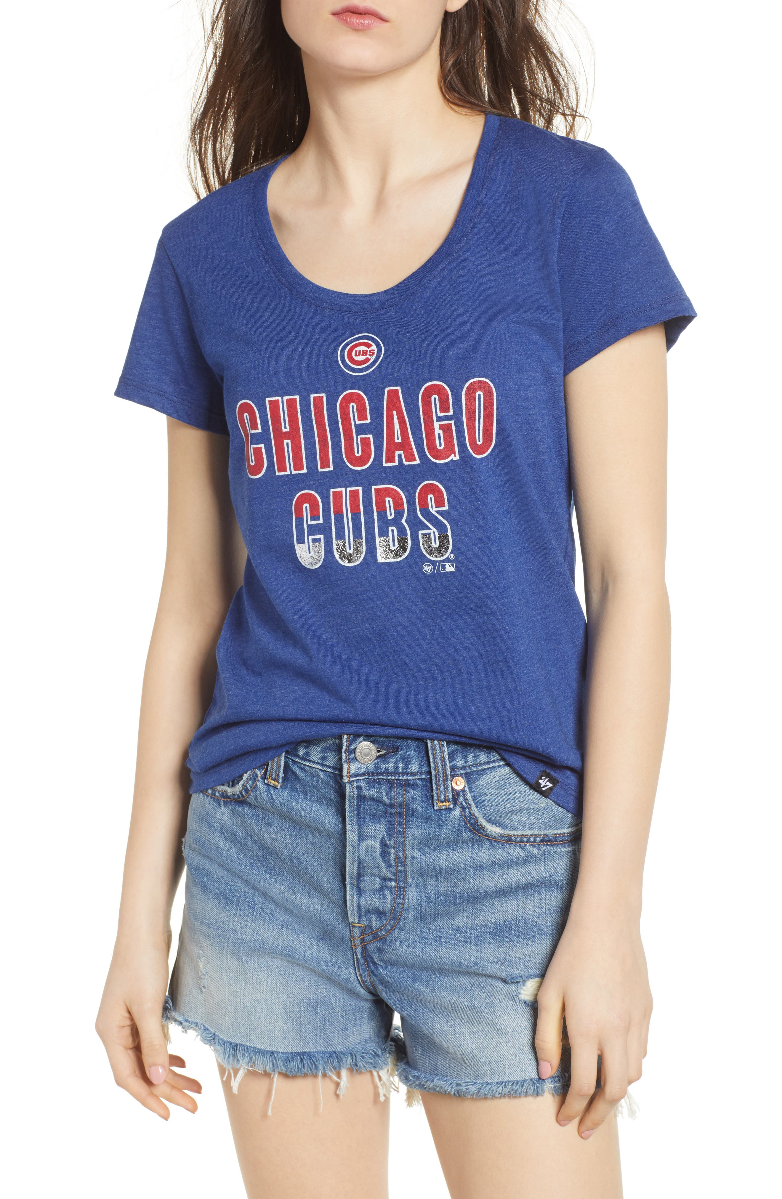 Chicago Cubs Too Good Tee,                         Main,                         color, Royal Blue