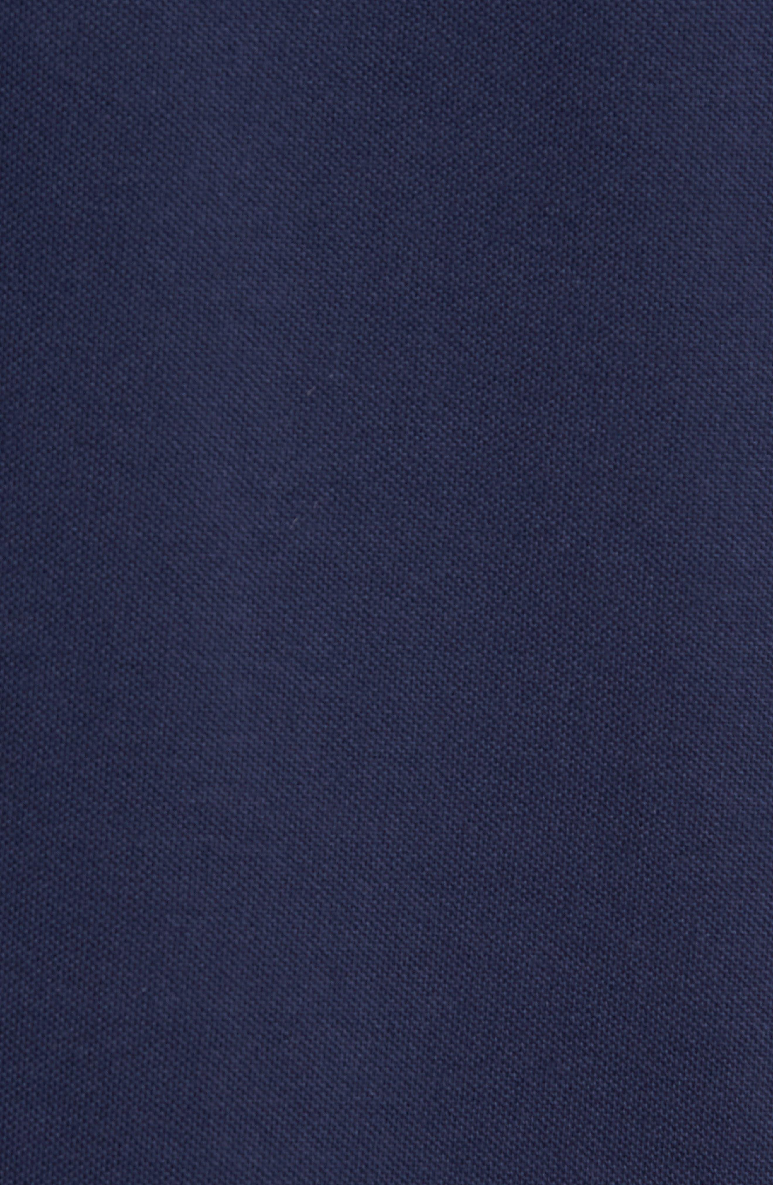 Bomber Collar Piqué Shirt,                             Alternate thumbnail 5, color,                             Carbon Blue