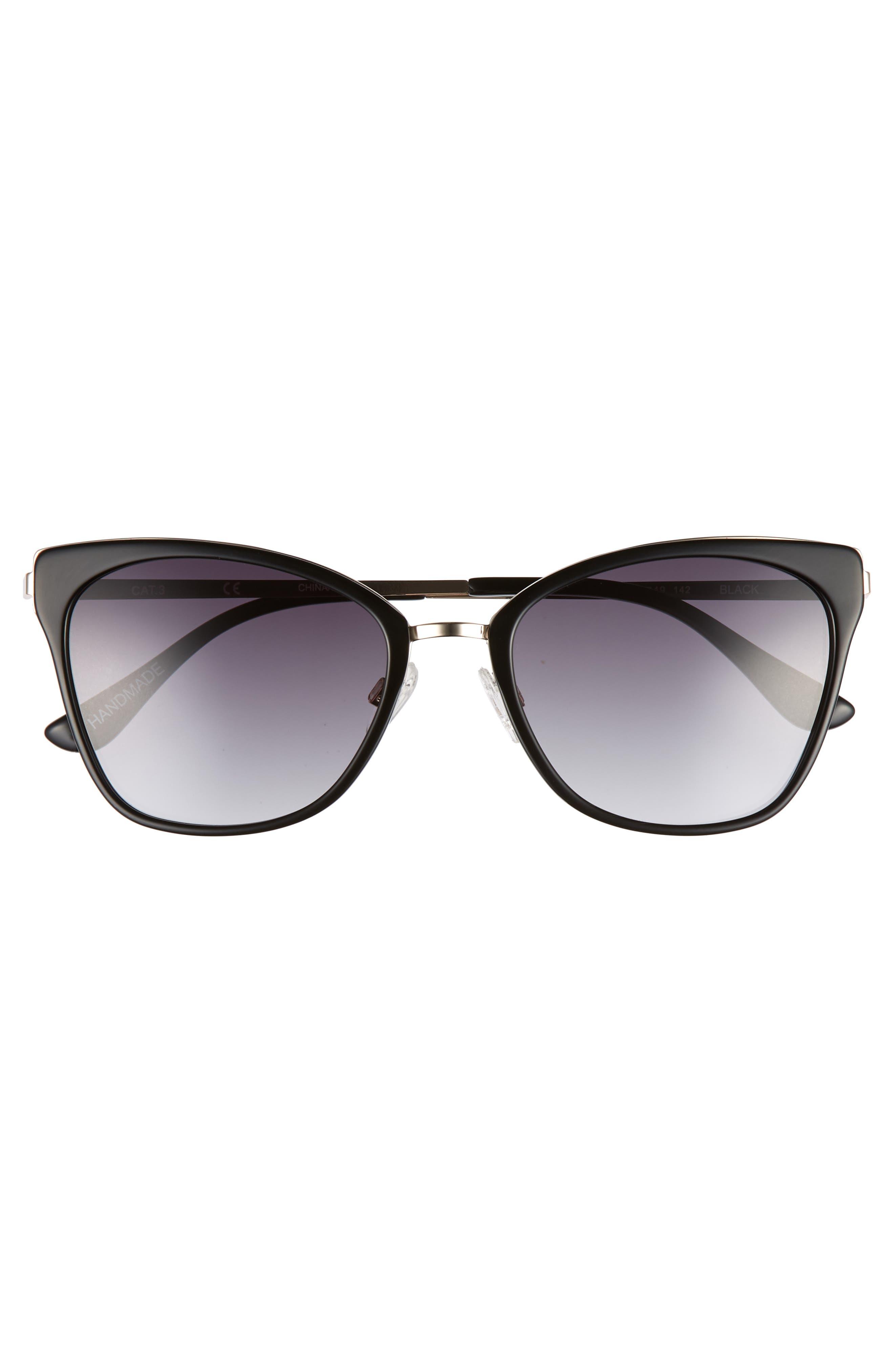 Origami 55mm Cat Eye Sunglasses,                             Alternate thumbnail 2, color,                             Black