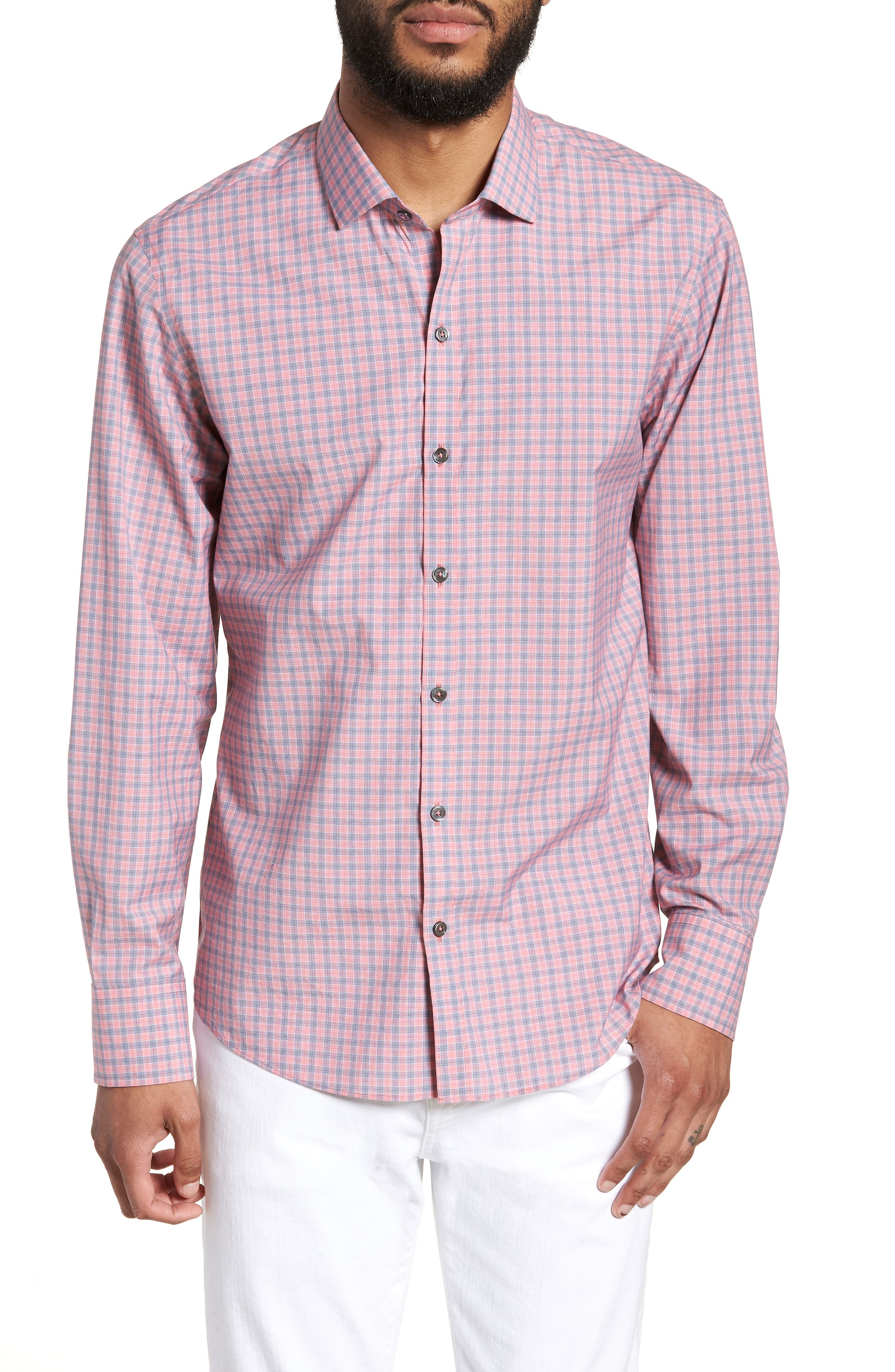 Sherif Regular Fit Sport Shirt,                         Main,                         color, Faded Red
