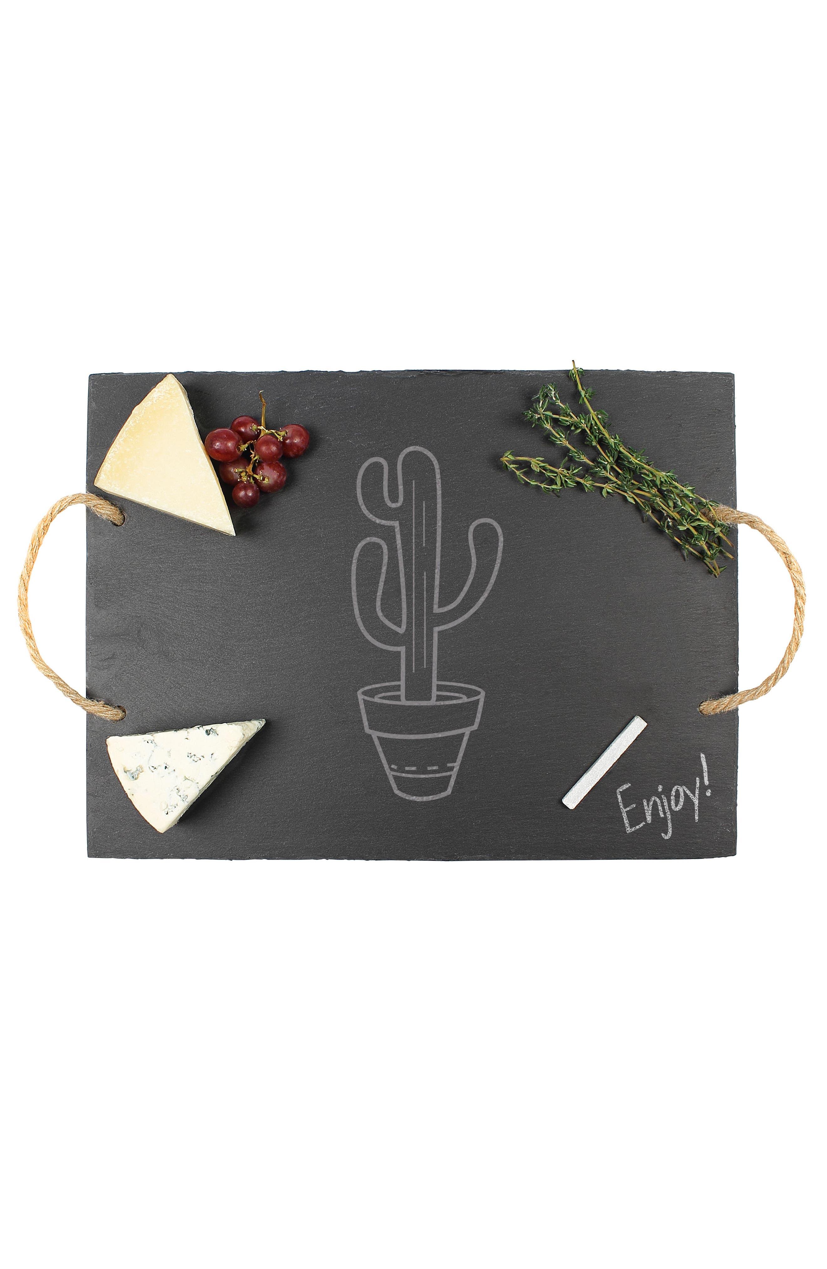 Cactus Slate Serving Board,                             Alternate thumbnail 3, color,