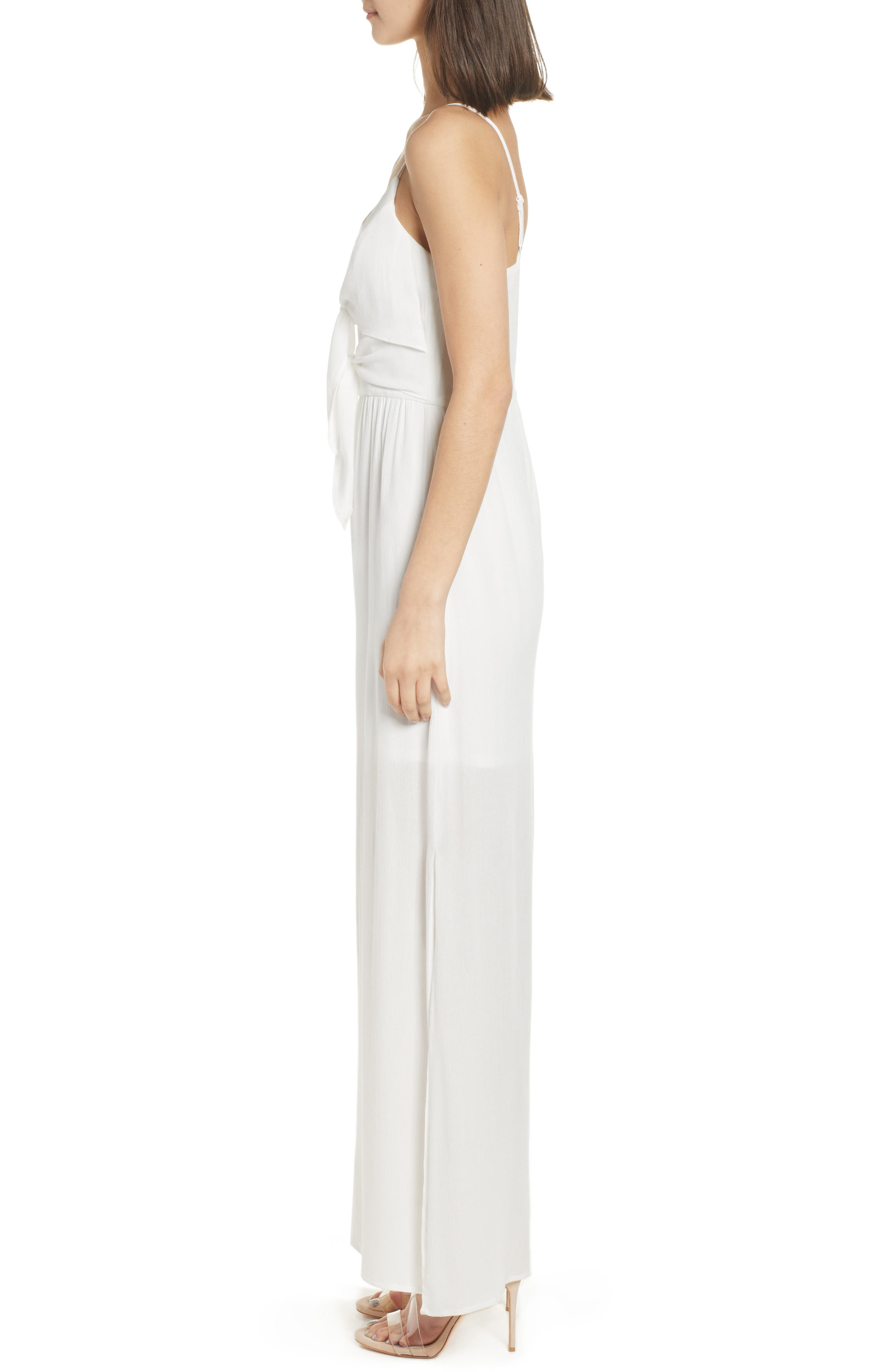 Tie Front Maxi Dress,                             Alternate thumbnail 3, color,                             Ivory