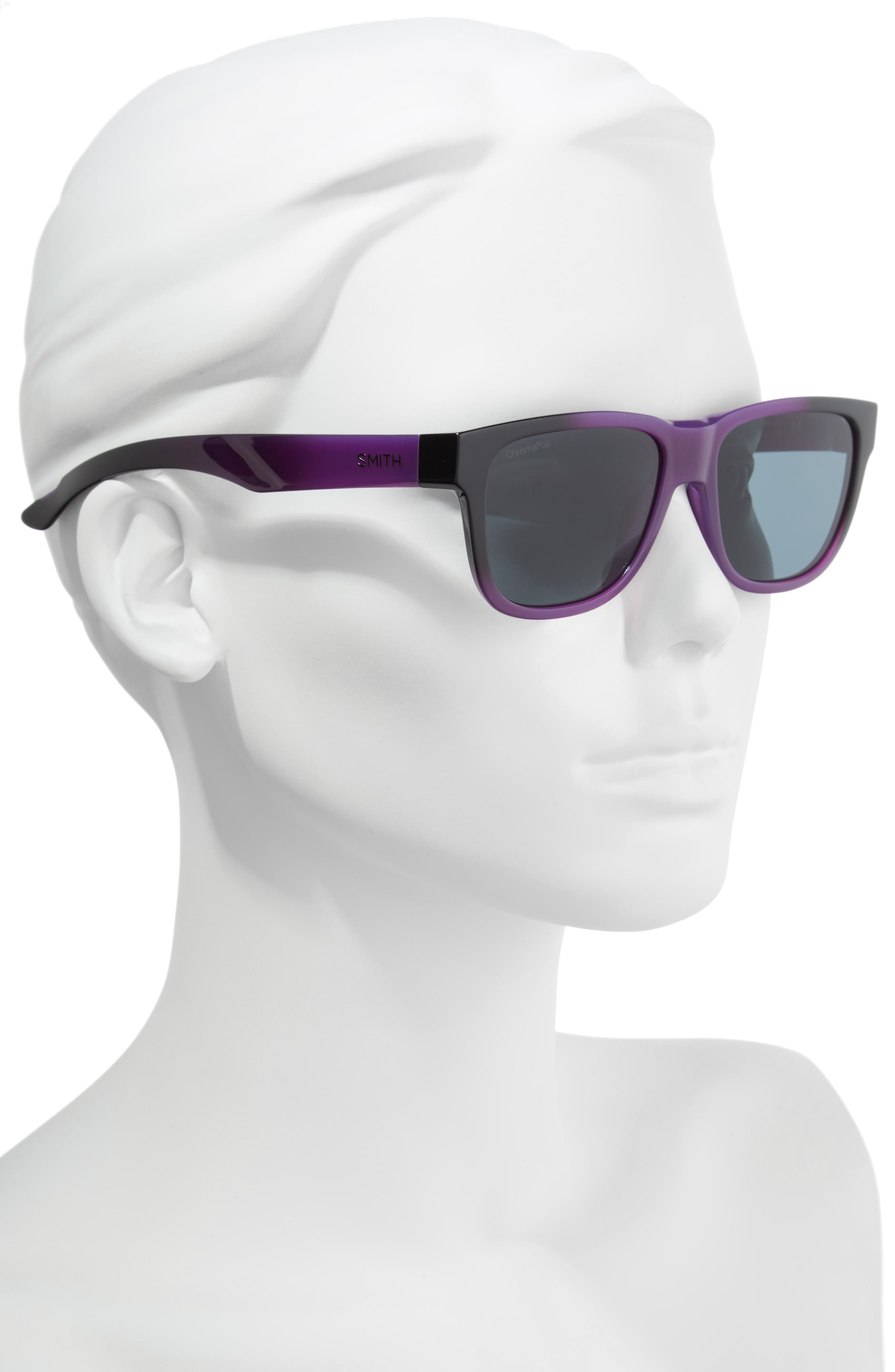Lowdown Slim 2 53mm ChromaPop<sup>™</sup> Square Sunglasses,                             Alternate thumbnail 2, color,                             Violet Spray