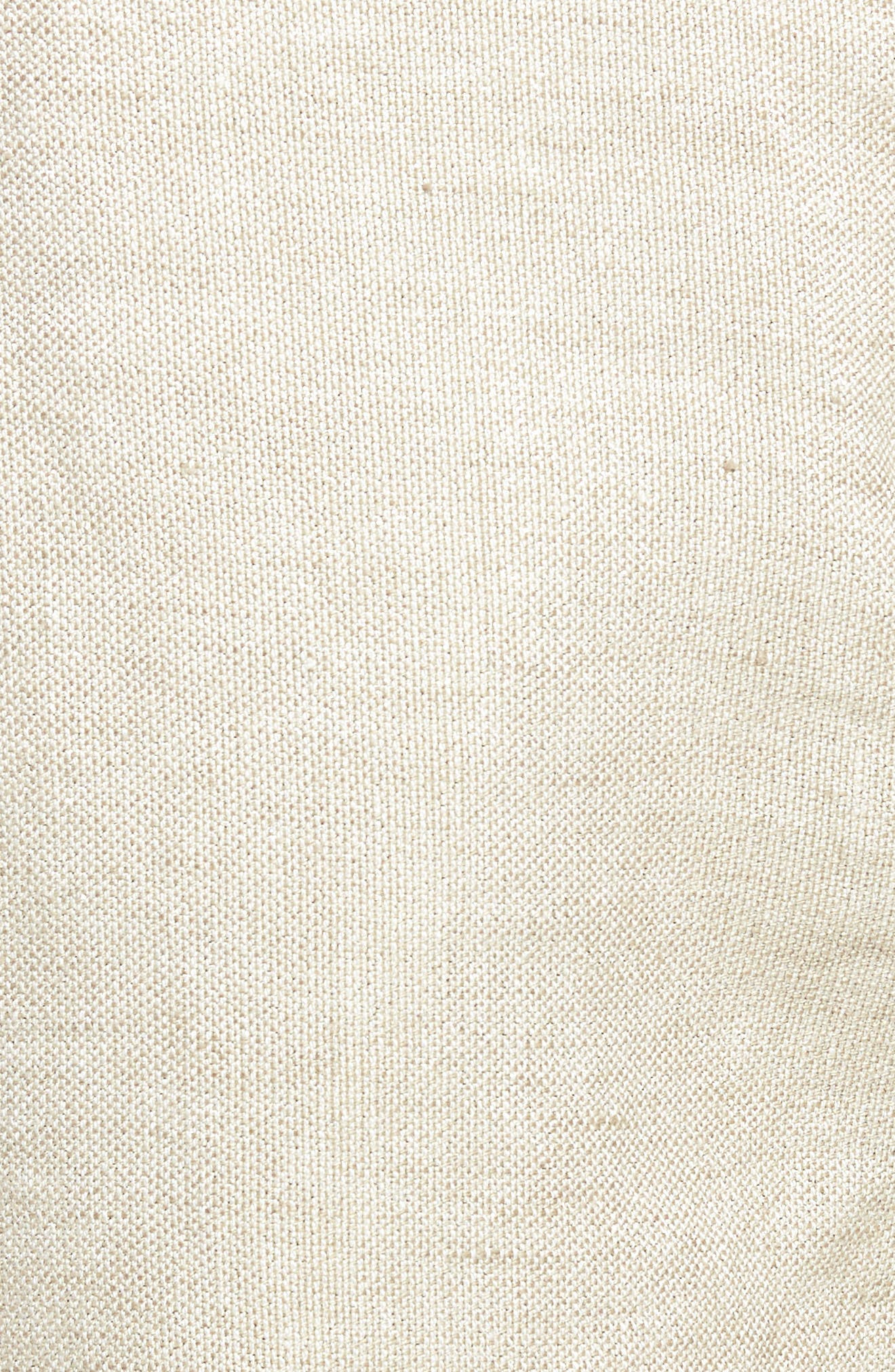 Organic Linen Blend Walking Shorts,                             Alternate thumbnail 4, color,                             Natural