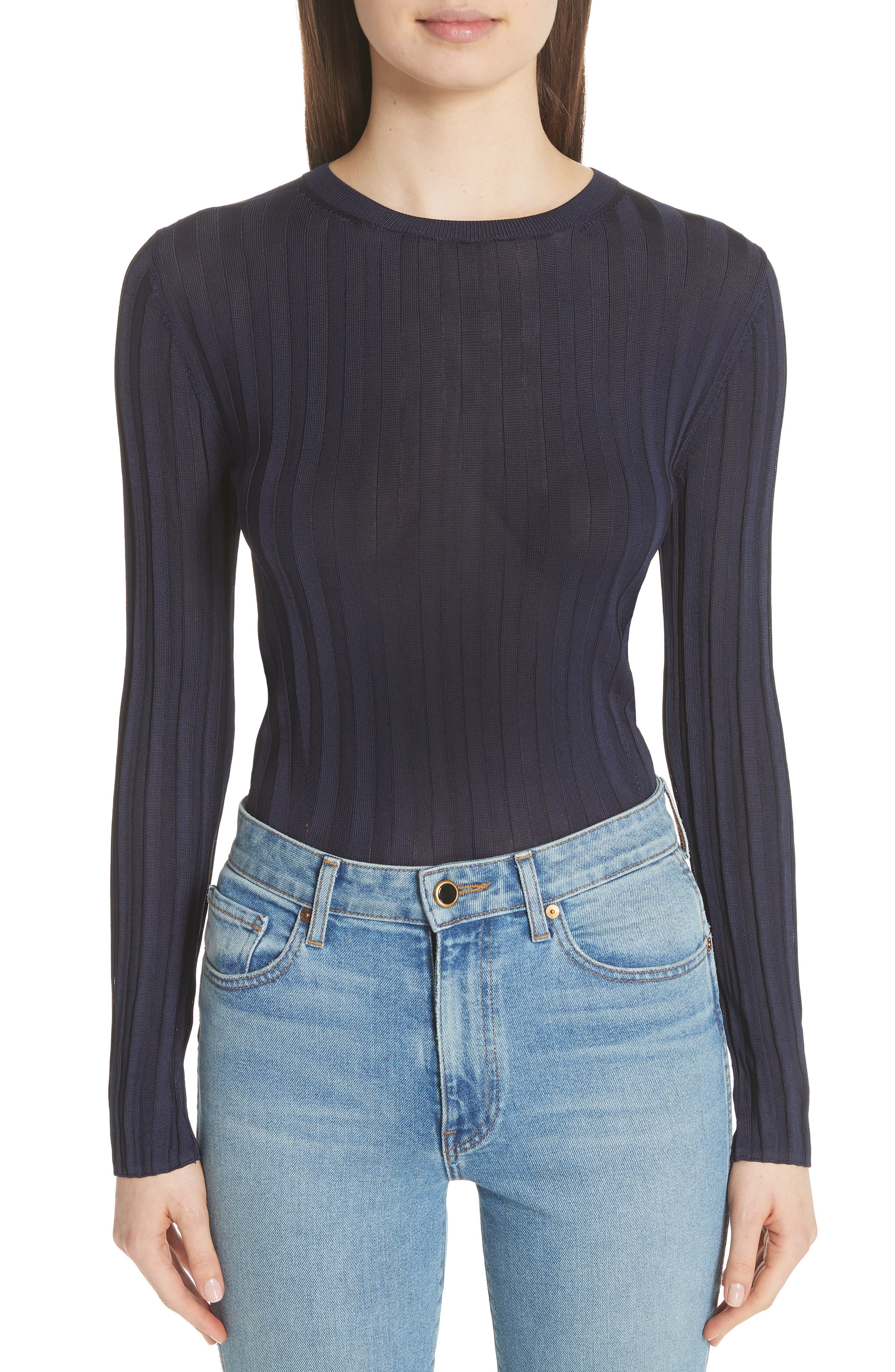 Alternate Image 1 Selected - Acne Studios Sitha Ribbed Top