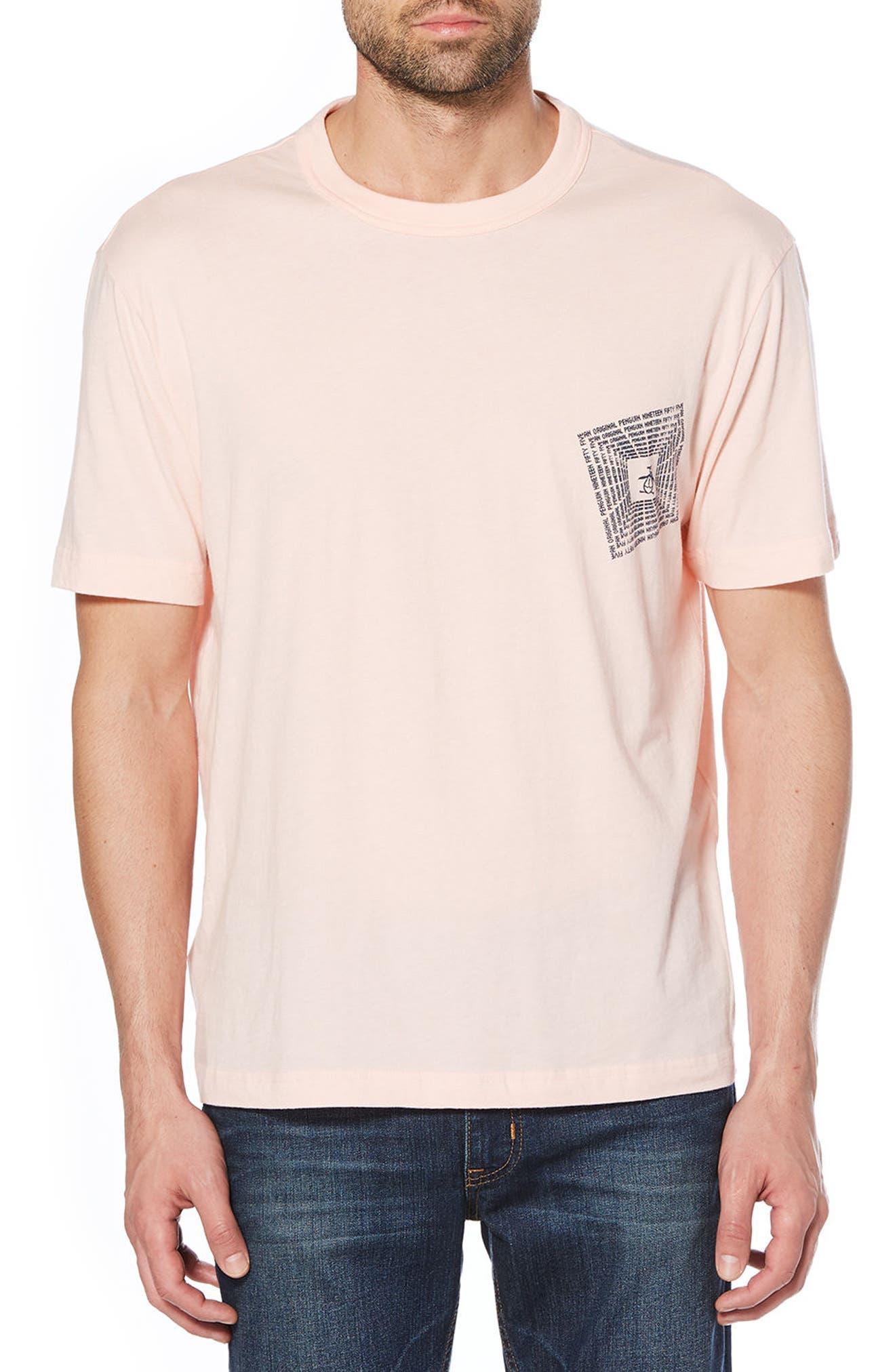 Optical Graphic T-Shirt,                         Main,                         color, Impatiens Pink