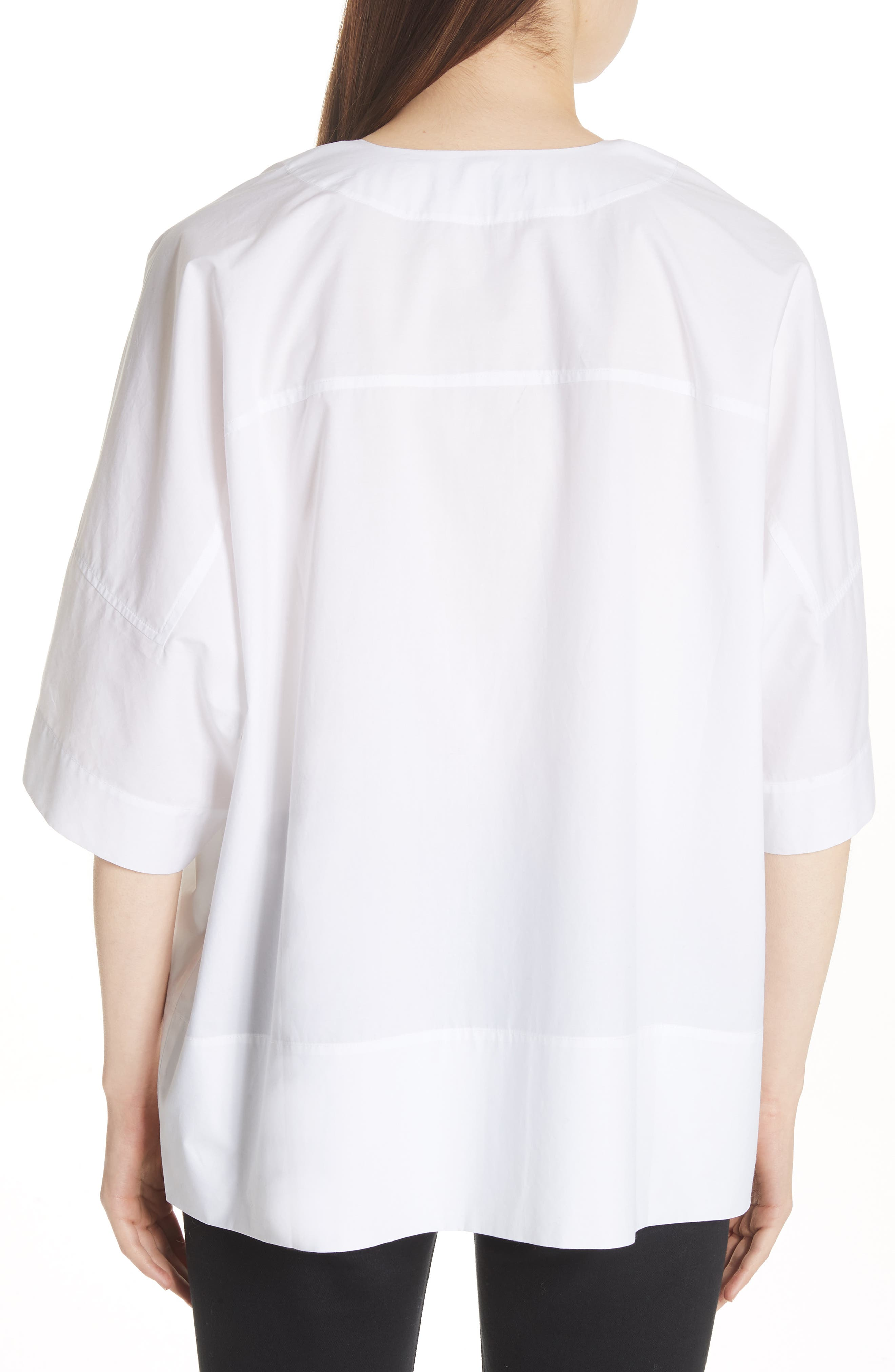 Lhena Boxy Top,                             Alternate thumbnail 2, color,                             White