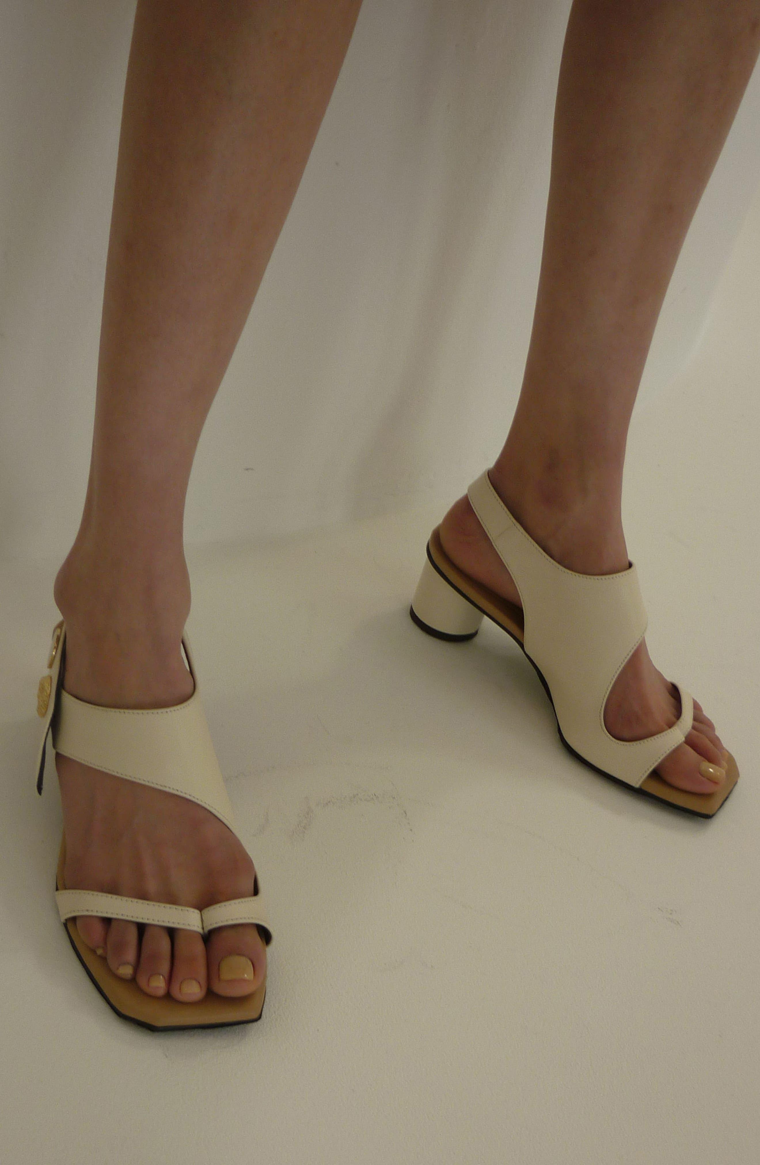 Embellished Leather Sandal,                             Alternate thumbnail 2, color,                             Beige Cream
