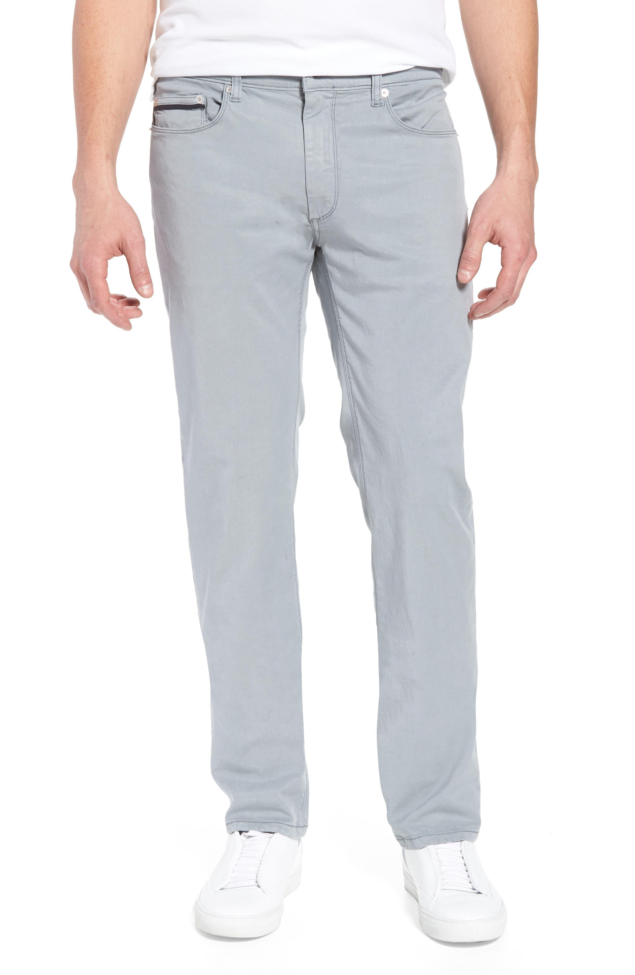 Trim Fit Pants,                         Main,                         color, Stone