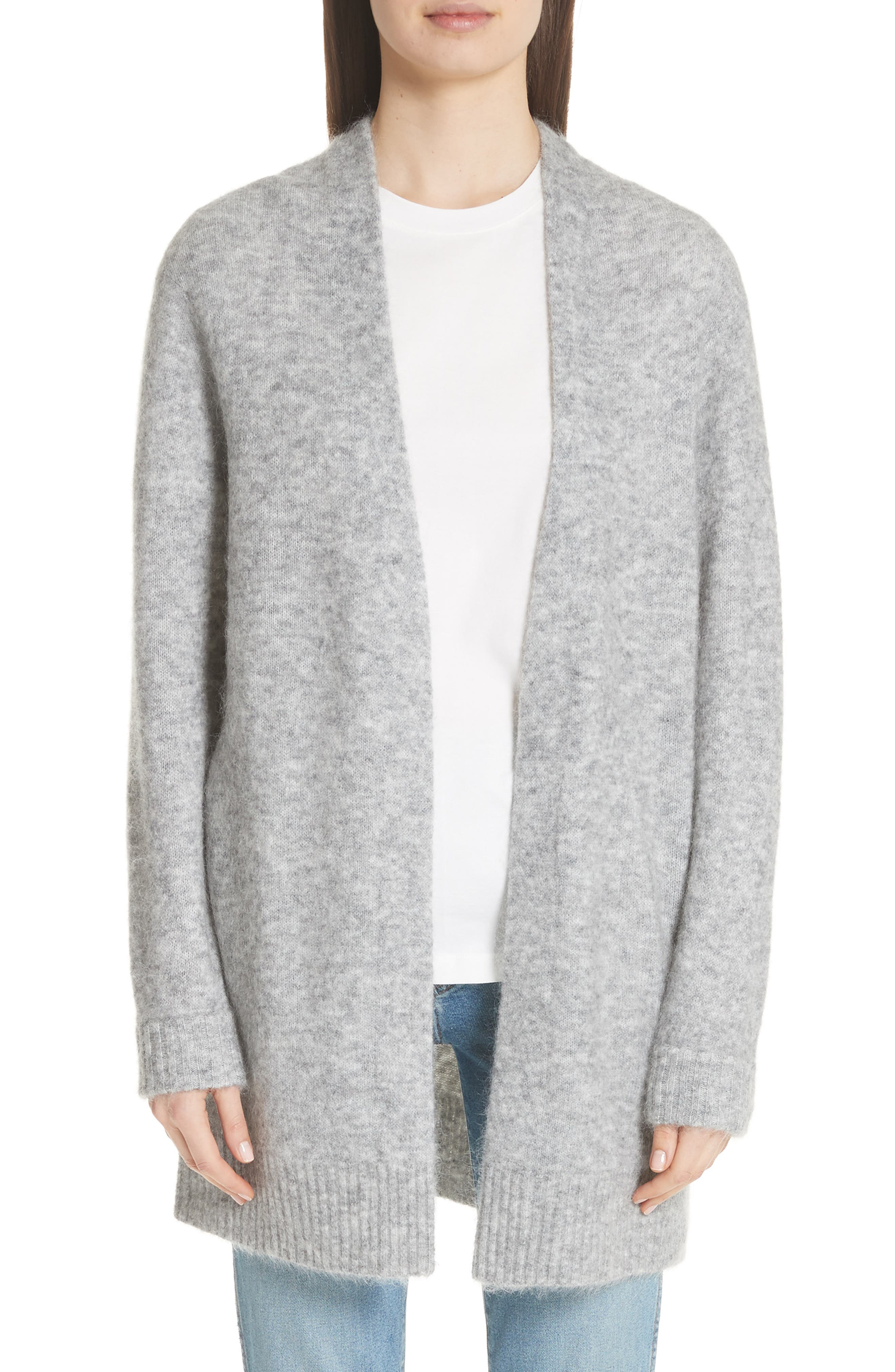 Raya Sh Mohair Knit Cardigan,                         Main,                         color, Husky Grey