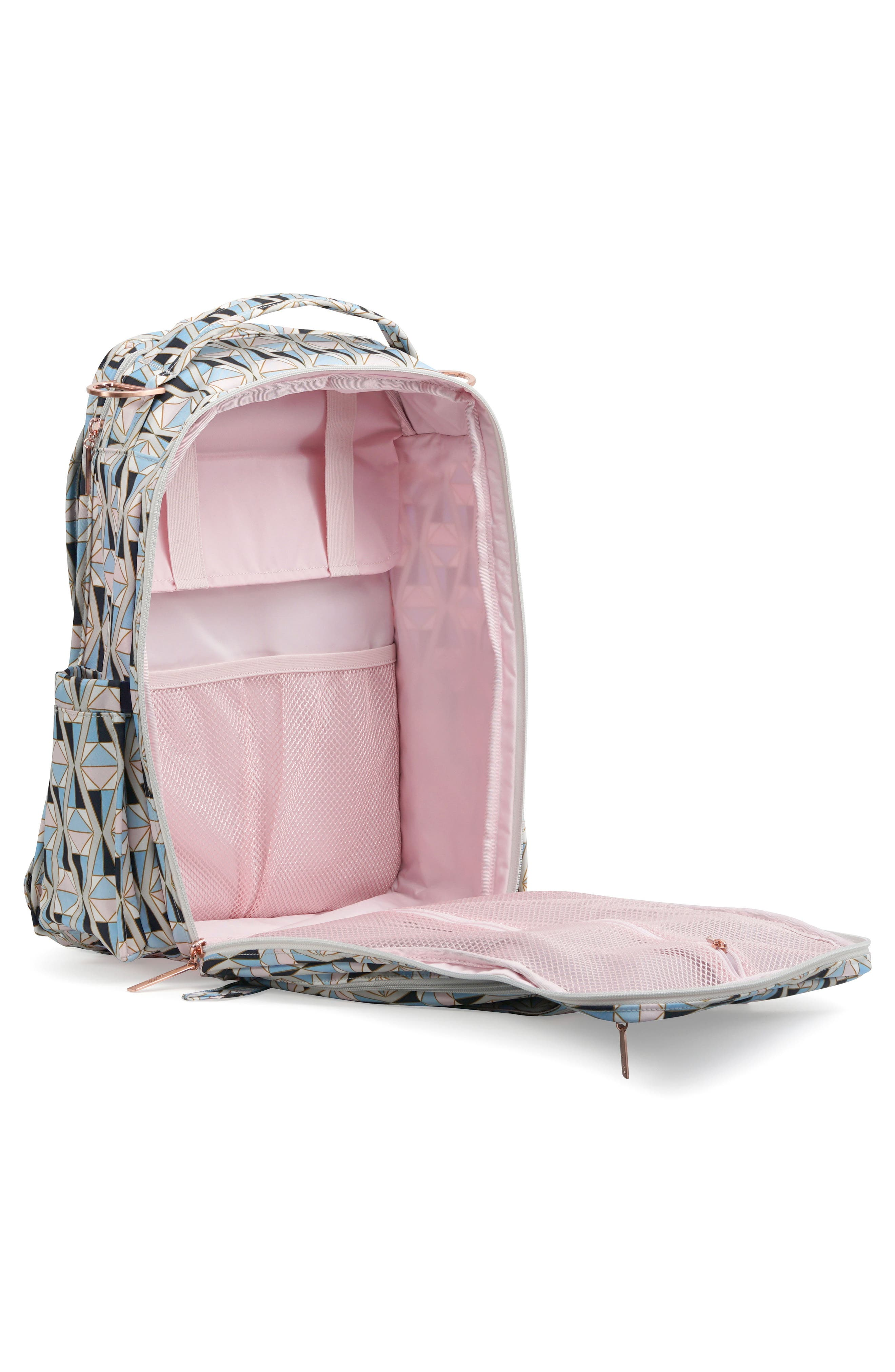 Be Right Back Diaper Backpack,                             Alternate thumbnail 4, color,                             Rose Colored Glass