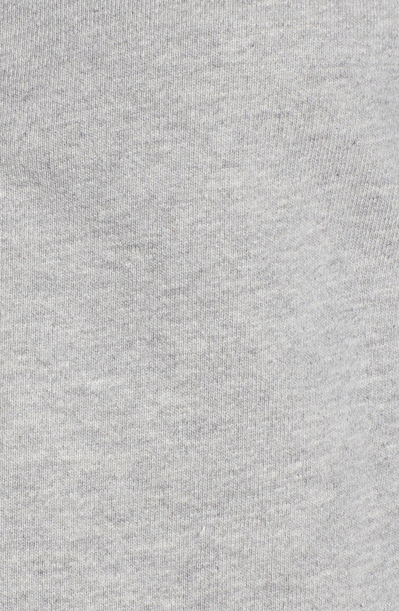 Crop Zip Sweatshirt,                             Alternate thumbnail 6, color,                             Heather Grey