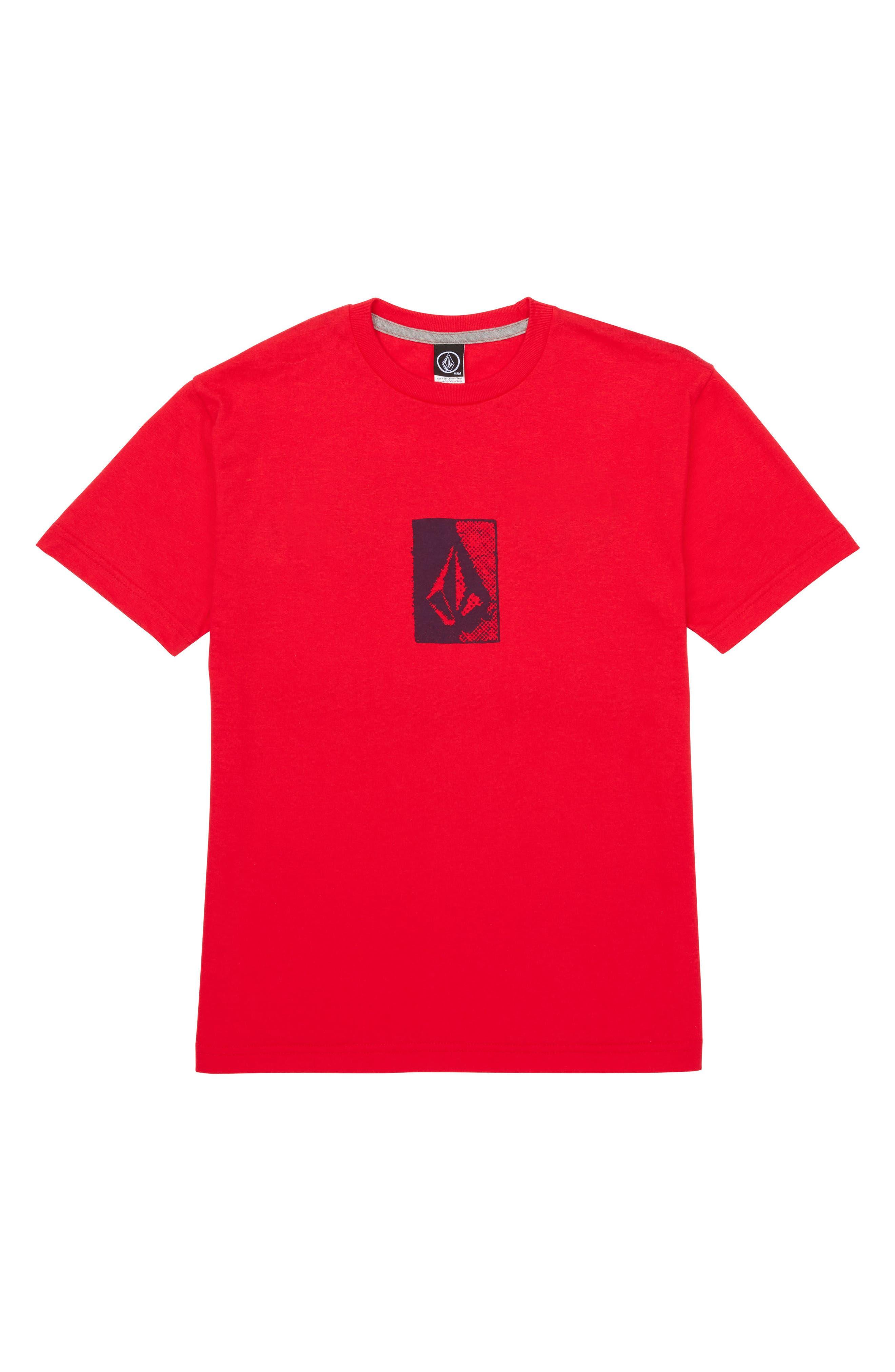 Half Tone Graphic T-Shirt,                             Main thumbnail 1, color,                             True Red