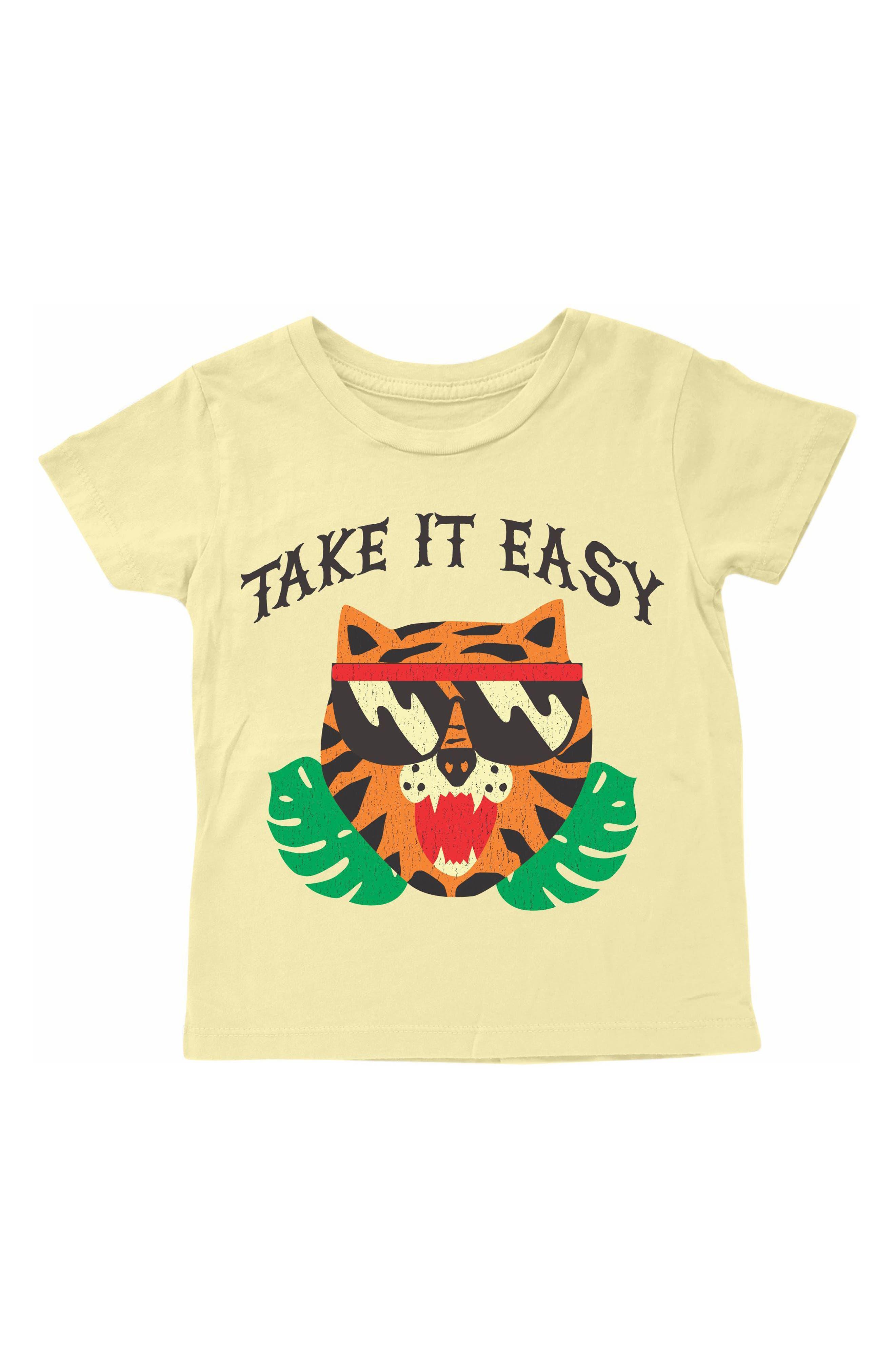 Take It Easy T-Shirt,                             Main thumbnail 1, color,                             Light Yellow
