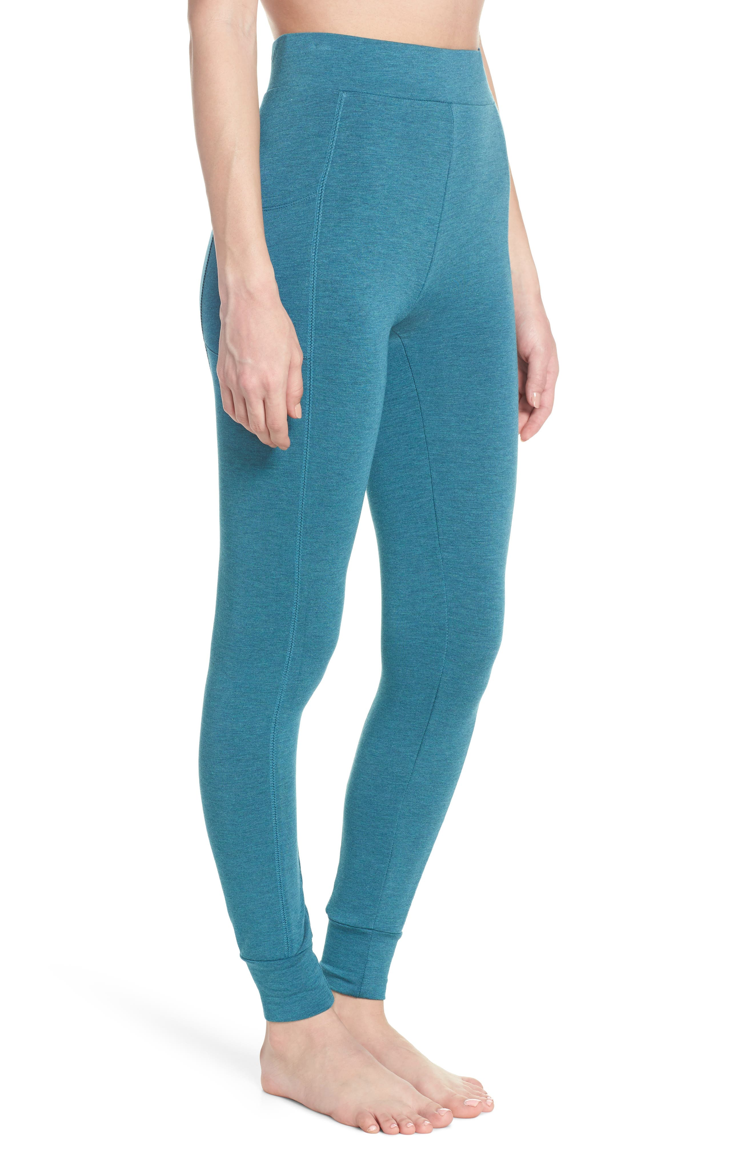 Kickin' It French Terry High Waist Lounge Leggings,                             Alternate thumbnail 3, color,                             Love Fern