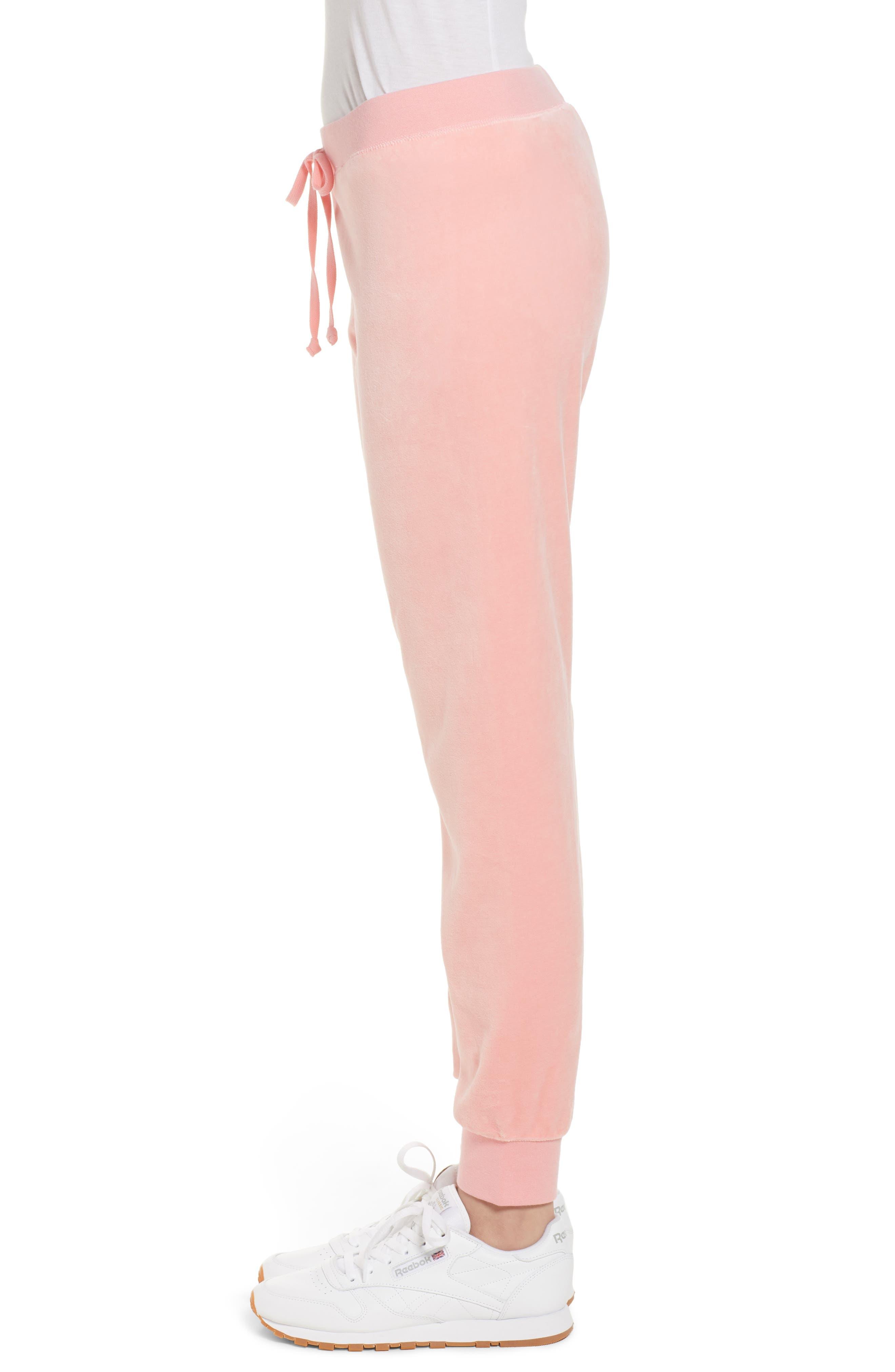 Zuma Velour Track Pants,                             Alternate thumbnail 3, color,                             Sorbet Pink