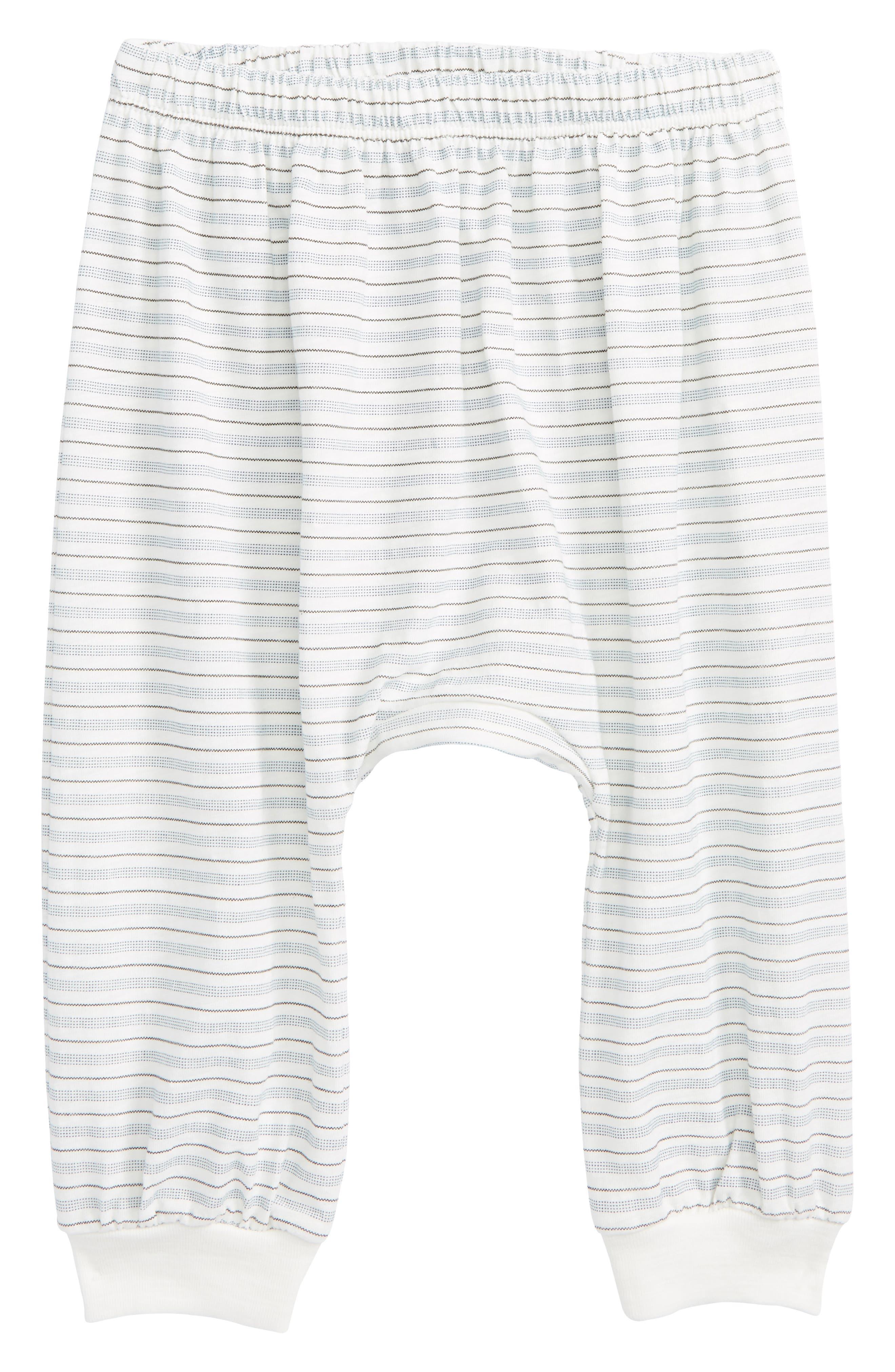 Peek Little Peanut Stripe Happy Pants,                             Main thumbnail 1, color,                             White