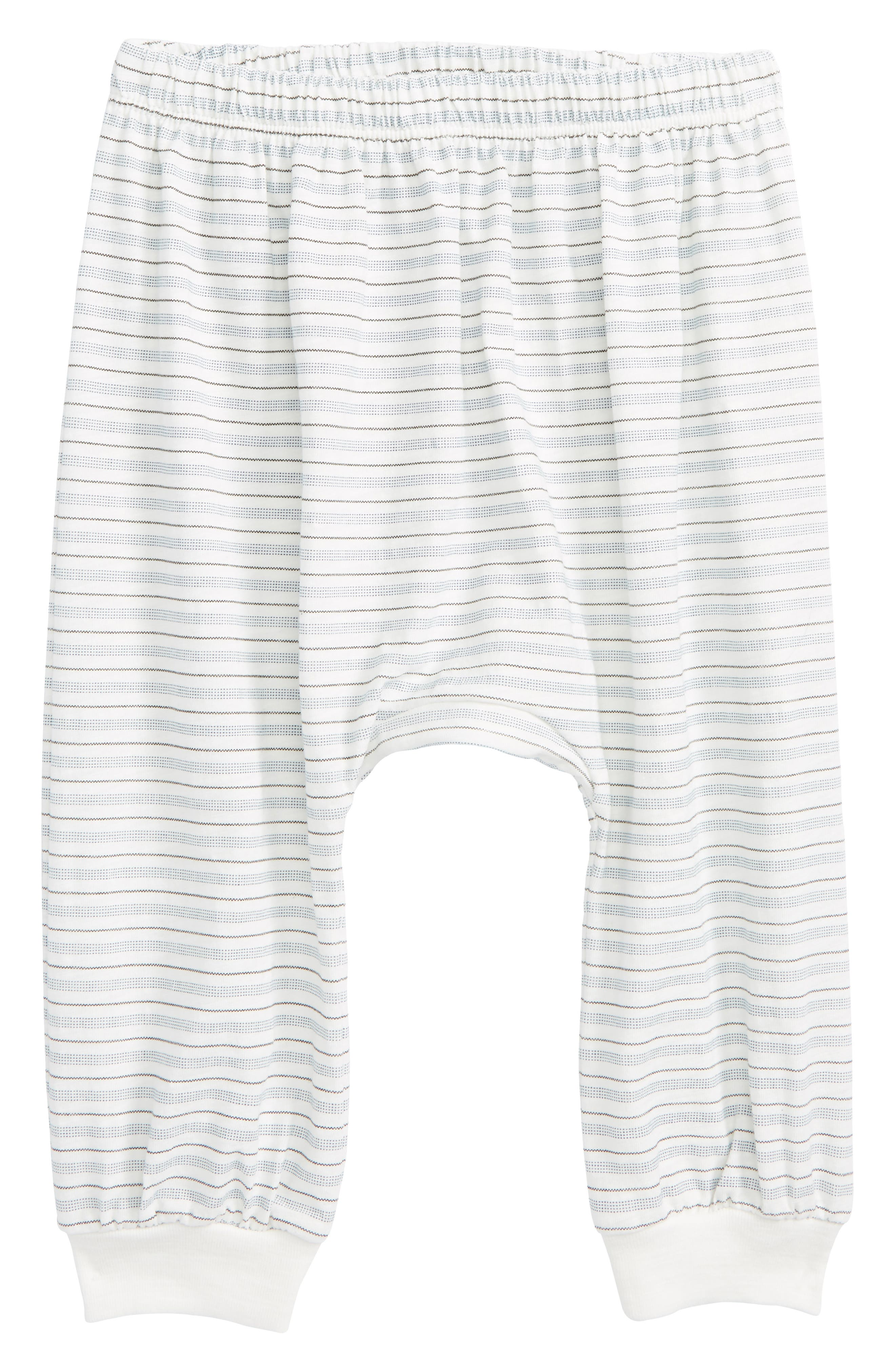 Peek Little Peanut Stripe Happy Pants,                         Main,                         color, White