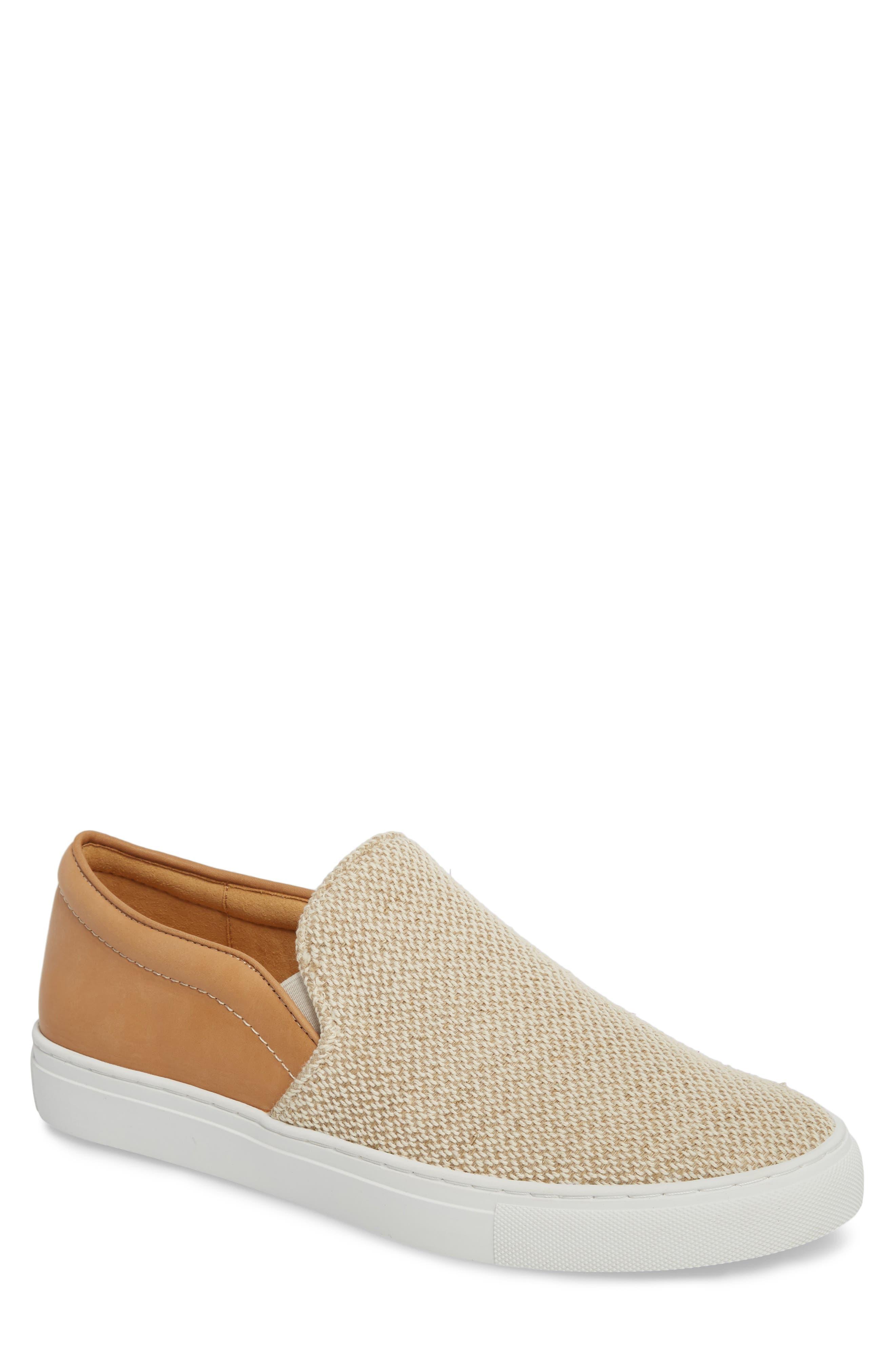 Donald Pliner Albin Raffia Slip-On Sneaker (Men)