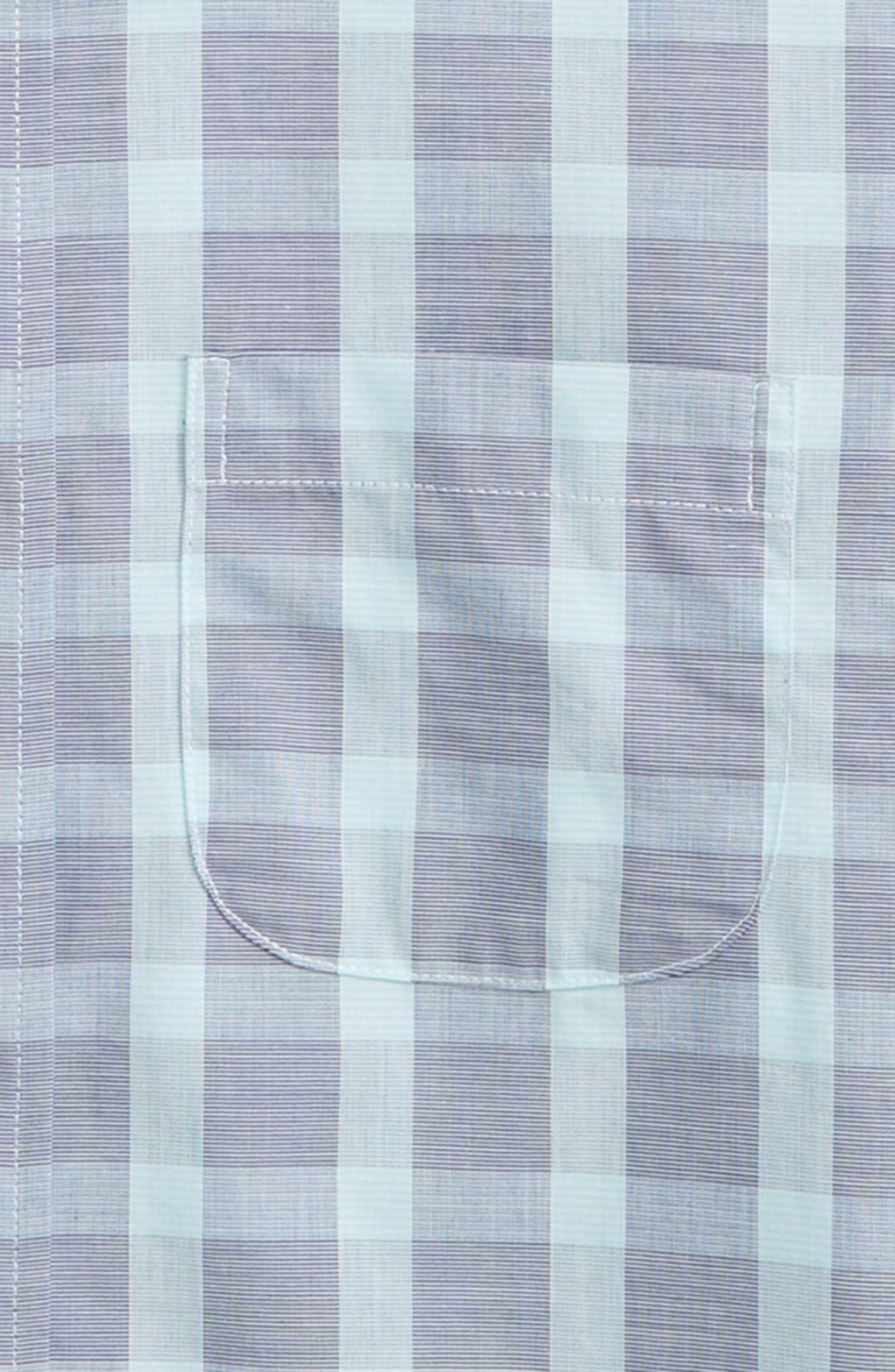 Plaid Dress Shirt,                             Alternate thumbnail 2, color,                             Navy Ribbon- Teal Plaid