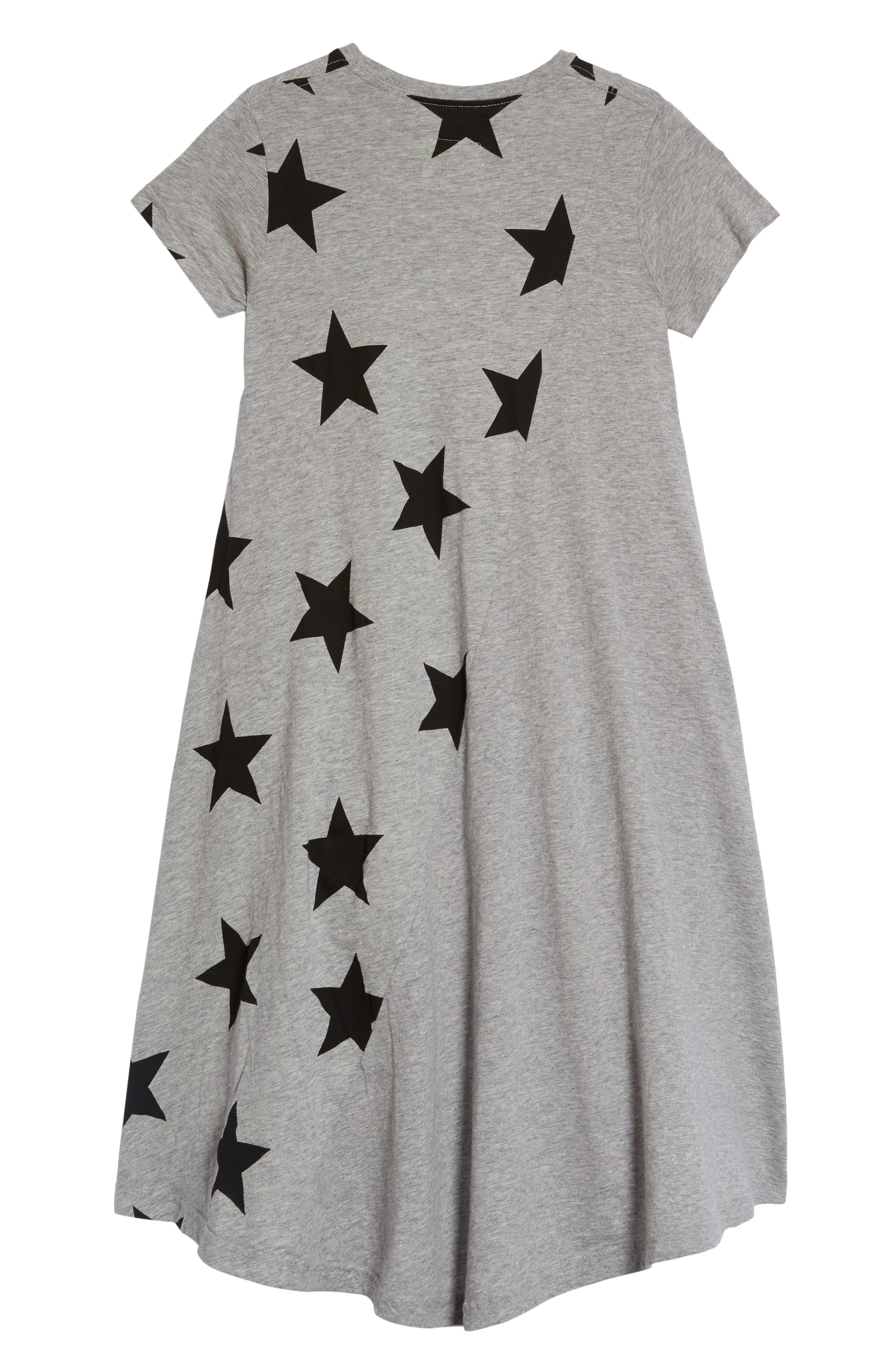 360 Star Print Dress,                             Alternate thumbnail 2, color,                             Heather Grey