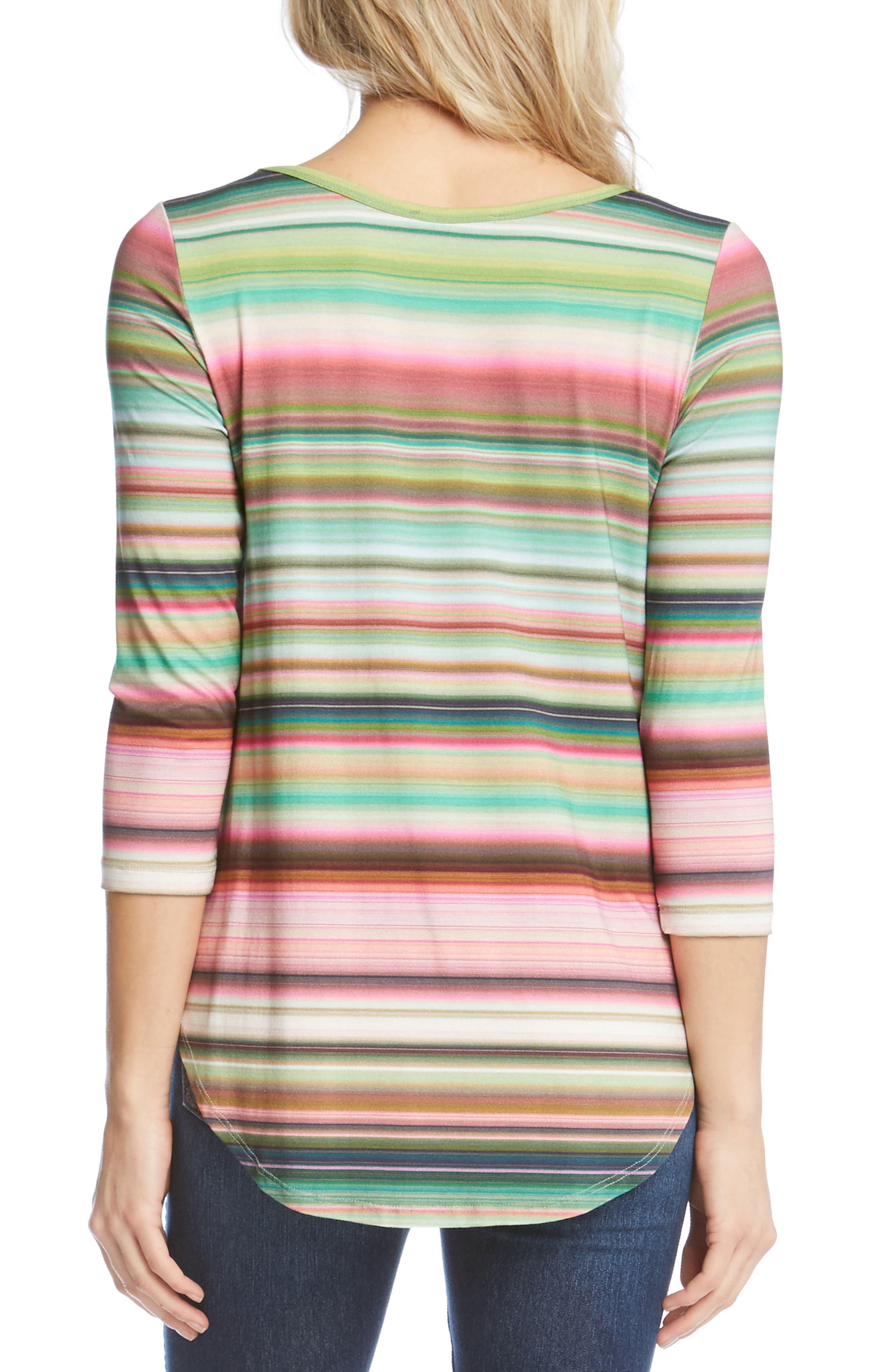 Mixed Stripe Top,                             Alternate thumbnail 2, color,                             Stripe