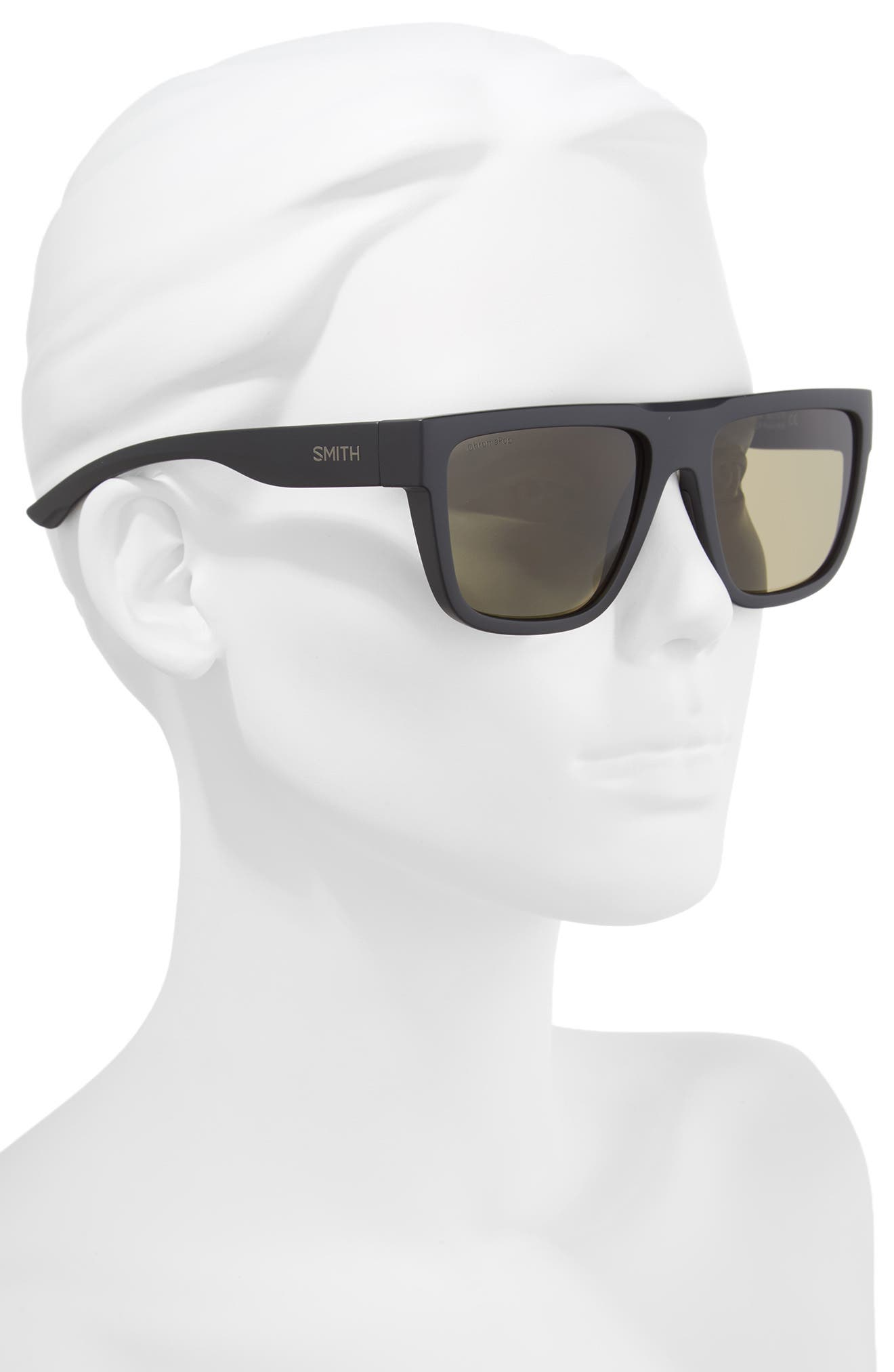 The Comeback 58mm ChromaPop<sup>™</sup> Square Sunglasses,                             Alternate thumbnail 2, color,                             Matte Black