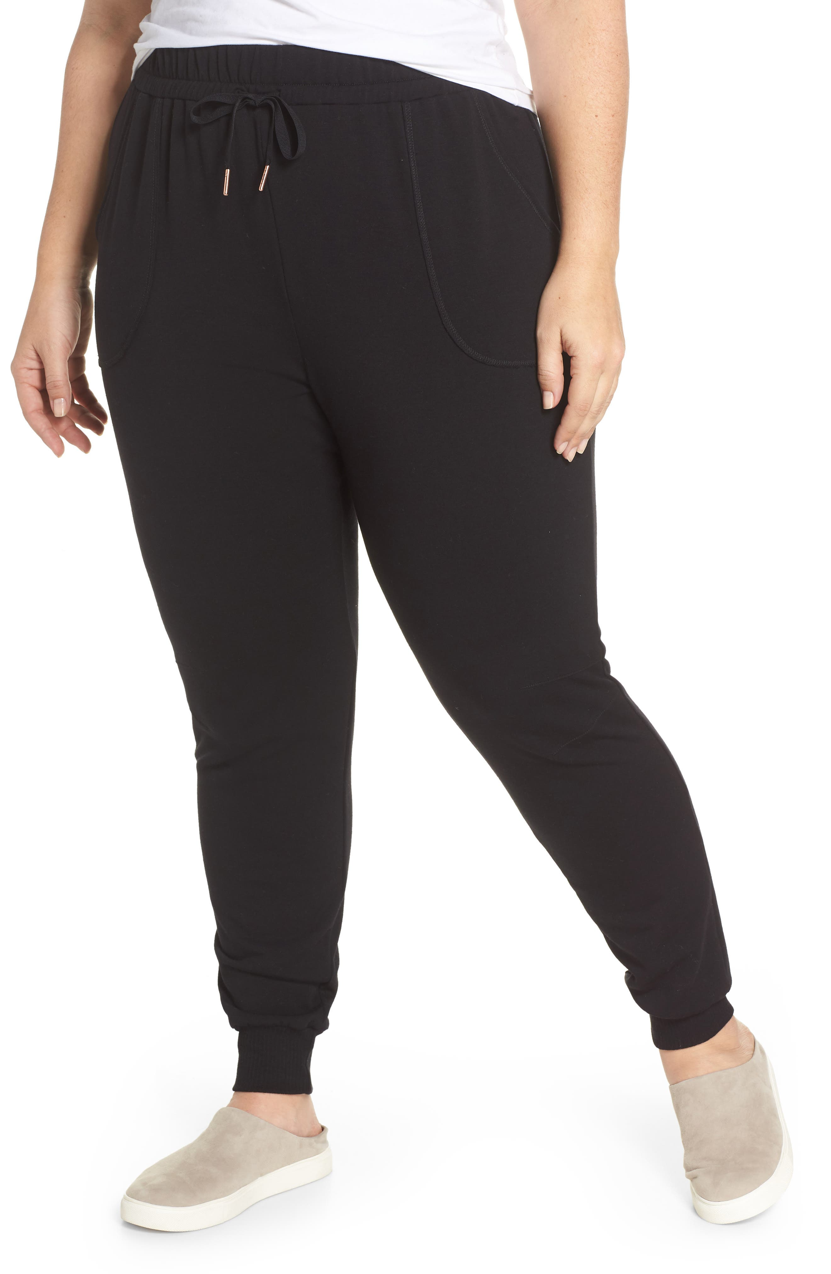 Off-Duty Stretch Jogger,                             Main thumbnail 1, color,                             Black